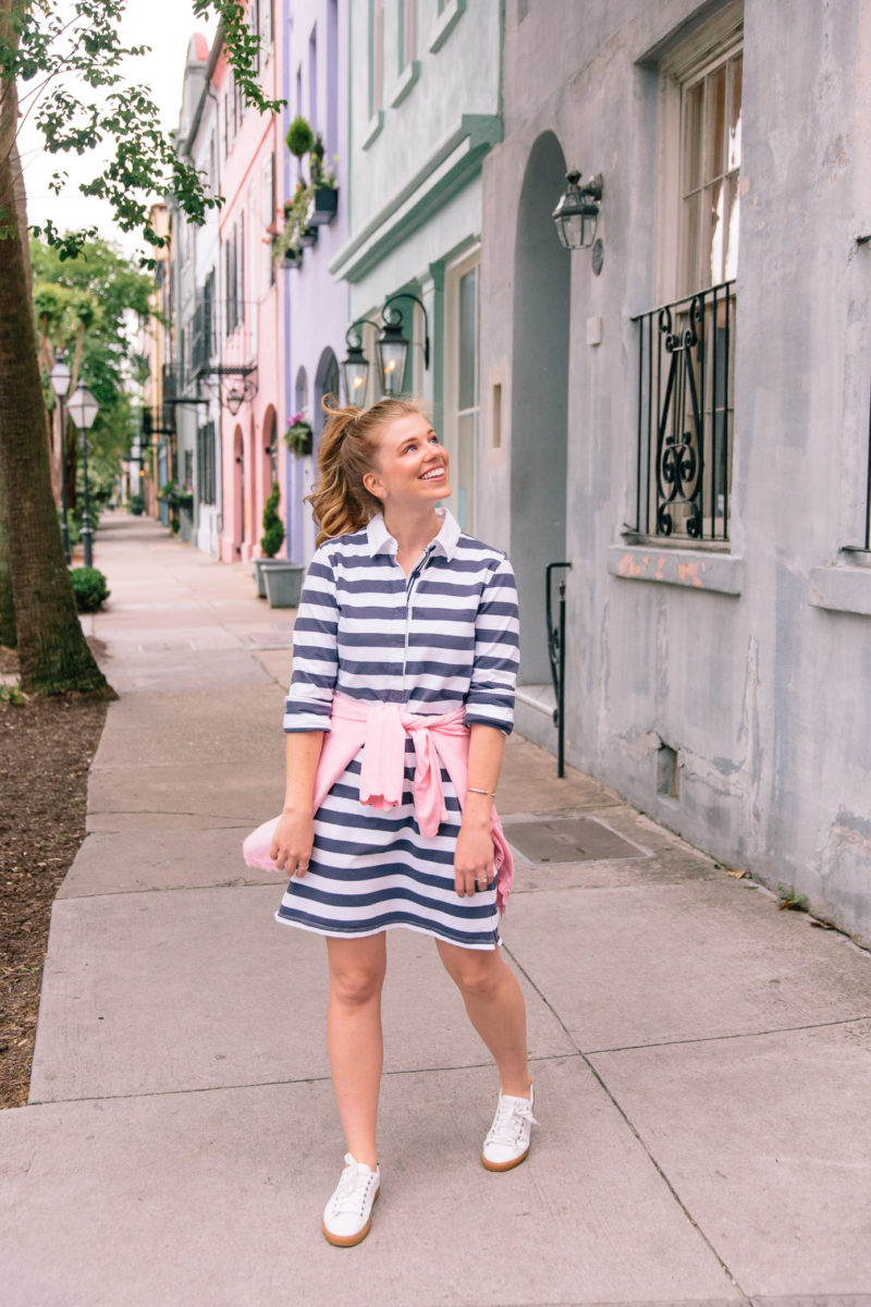 Why a Striped Rugby Dress is a Must | Charleston, SC
