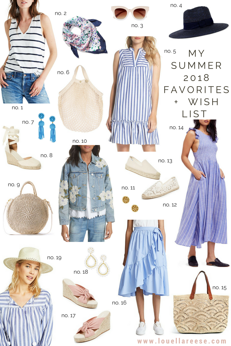 Louella Reese Summer 2018 Favorites + Wish List
