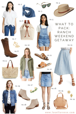 What to Pack for a Ranch Weekend Getaway
