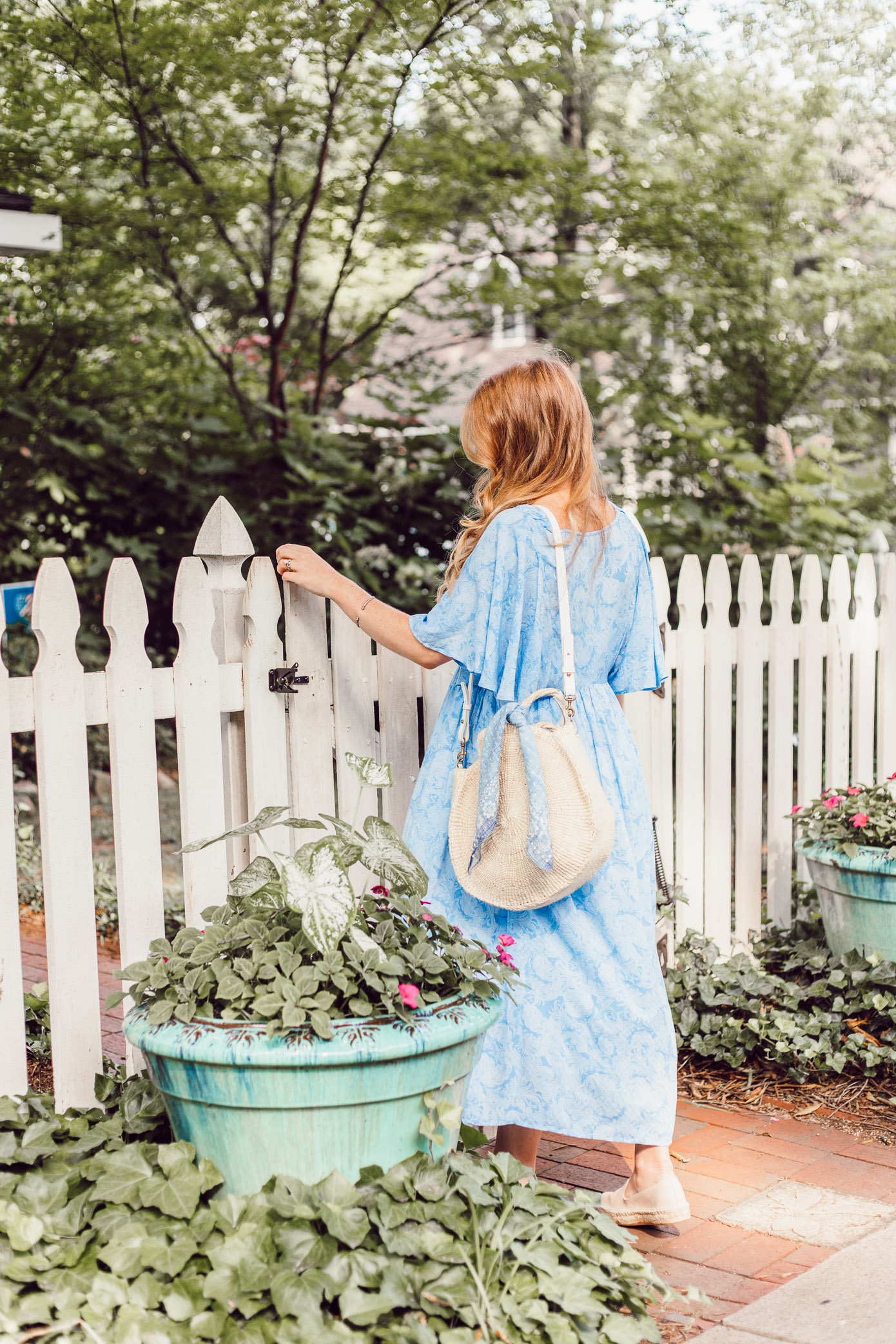 Light Summer Dresses 2018 | Blue Kimono Dress for Summer styled on Louella Reese