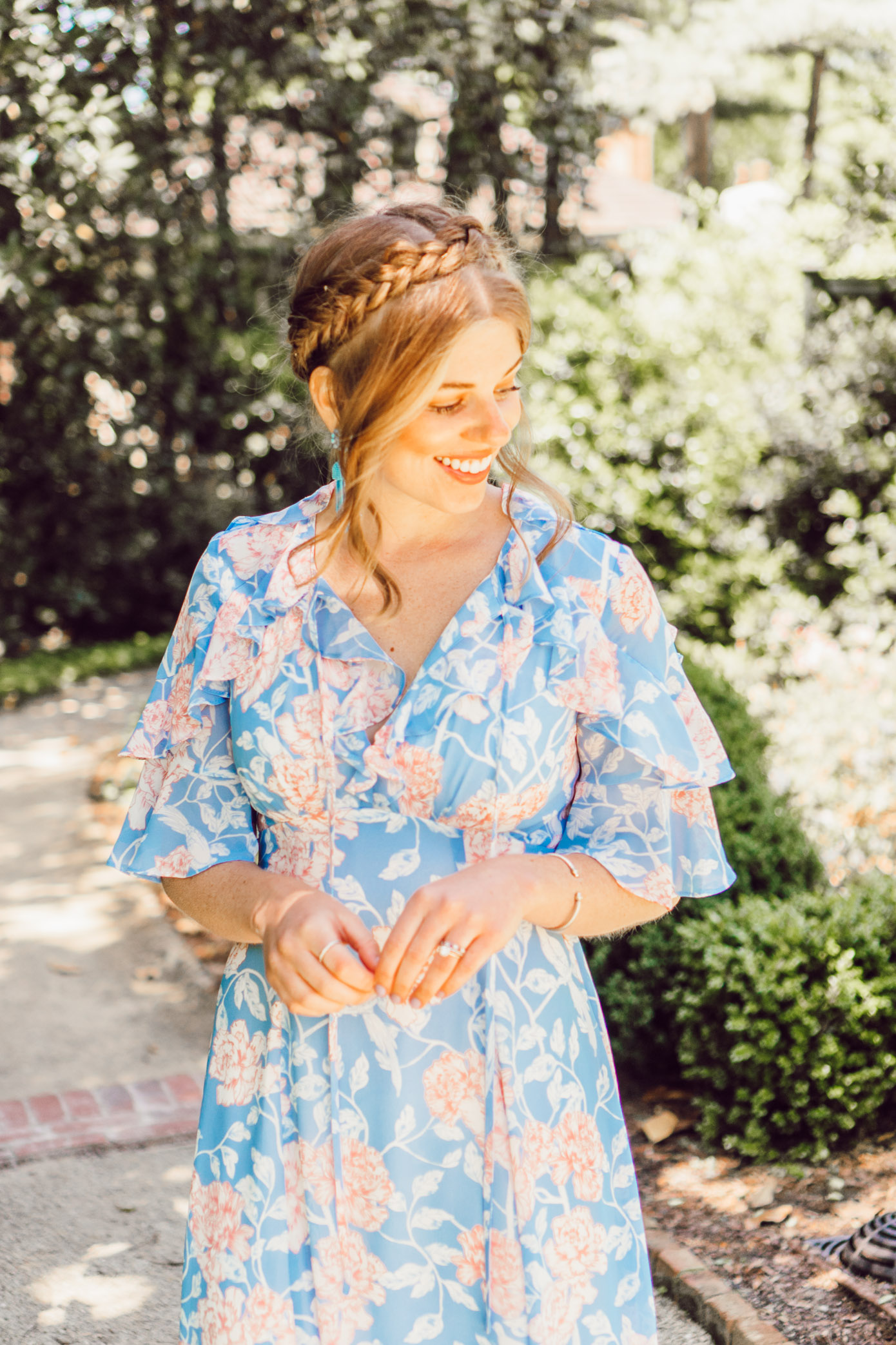 Gal Meets Glam Shelby Dress | Summer Wedding Guest Dress featured by popular Charlotte fashion blog, Louella Reese