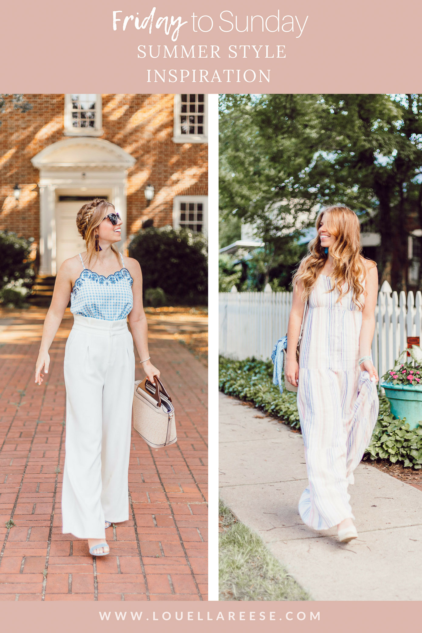 Summer Weekend Style from Friday to Sunday featured by Louella Reese