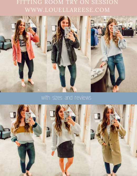 2018 Nordstrom Anniversary Fitting Room Session featured on Louella Reese Life & Style Blog