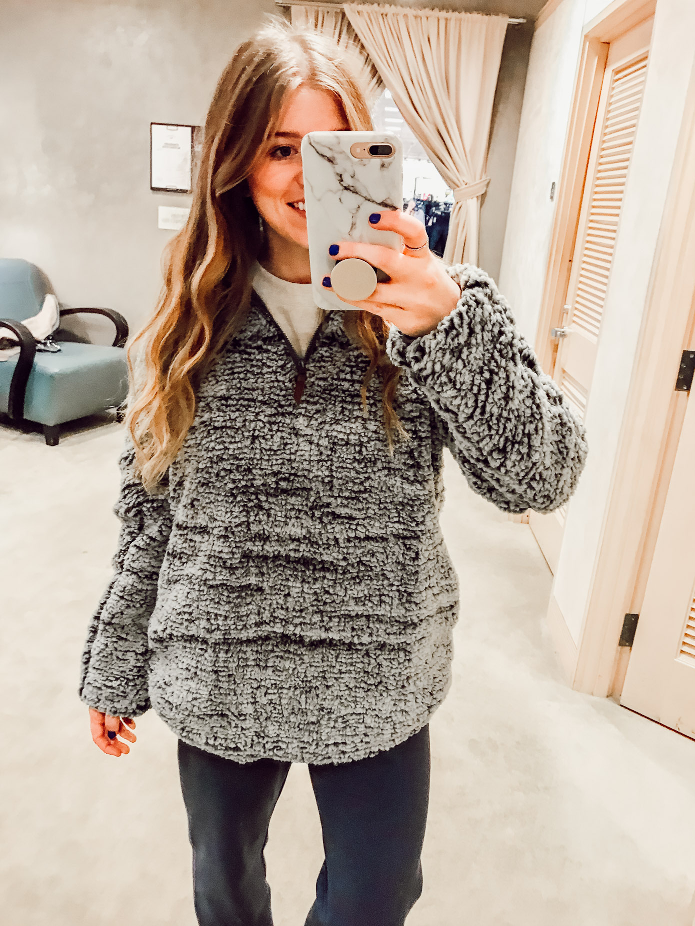 Thread & Supply Wubby Fleece Pullover | 2018 Nordstrom Anniversary Fitting Room Session featured on Louella Reese Life & Style Blog