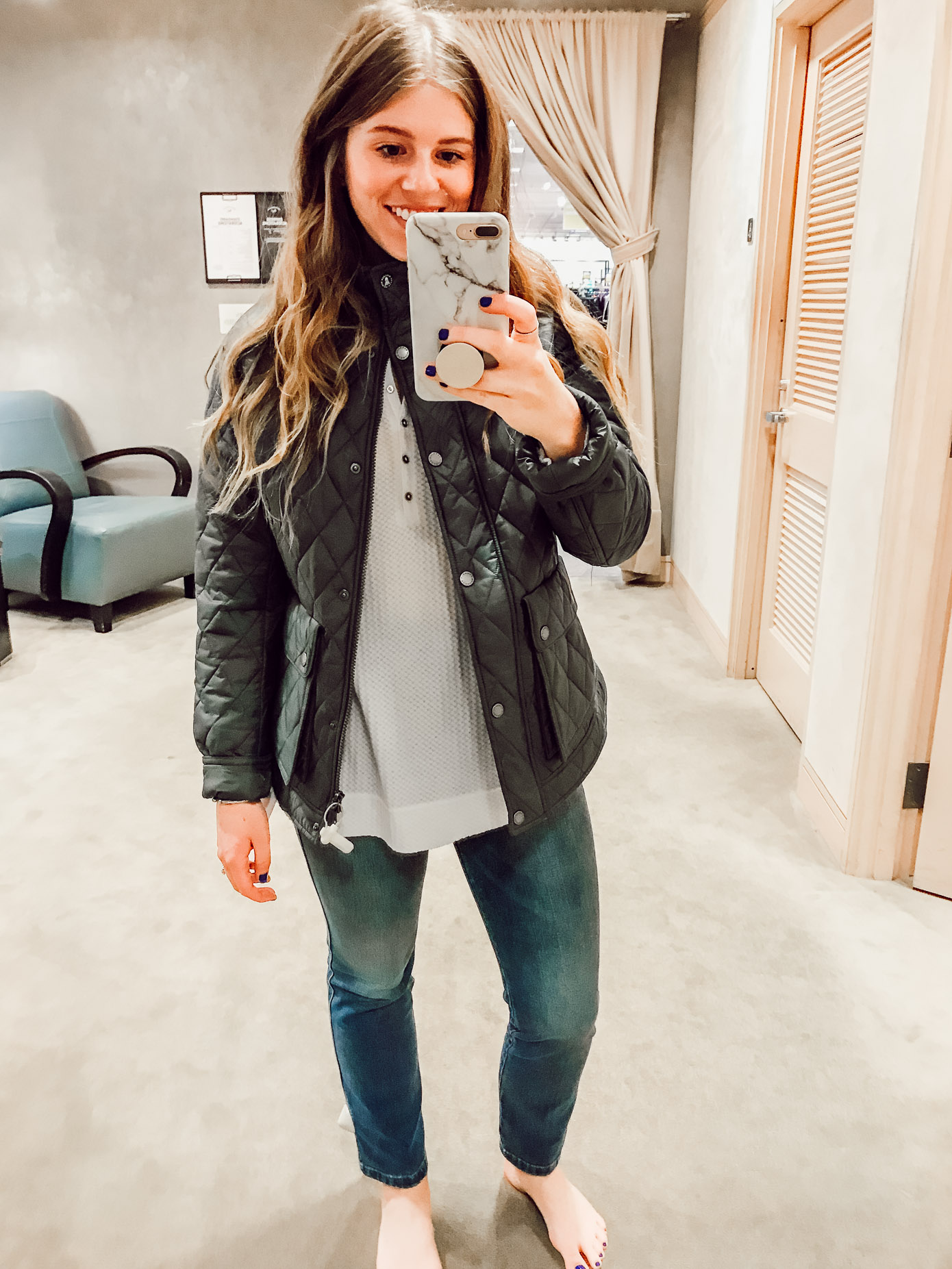 Barbour Cushat Quilted Jacket | 2018 Nordstrom Anniversary Fitting Room Session featured on Louella Reese Life & Style Blog