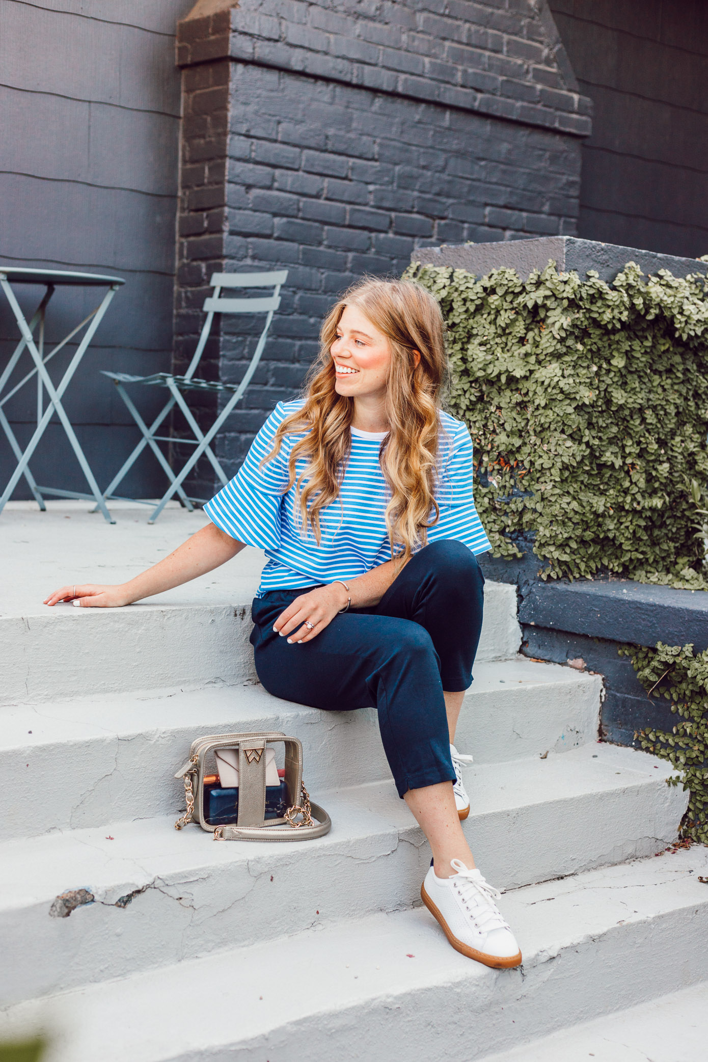 Navy Lightweight Joggers for Summer | Casual Summer Outfit Idea featured on Louella Reese Blog