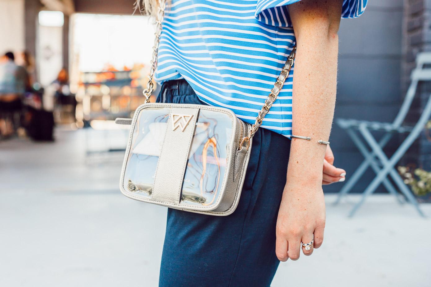 Clear Crossbody Handbag, Kelly Wynne | Casual Summer Outfit Idea featured on Louella Reese Blog
