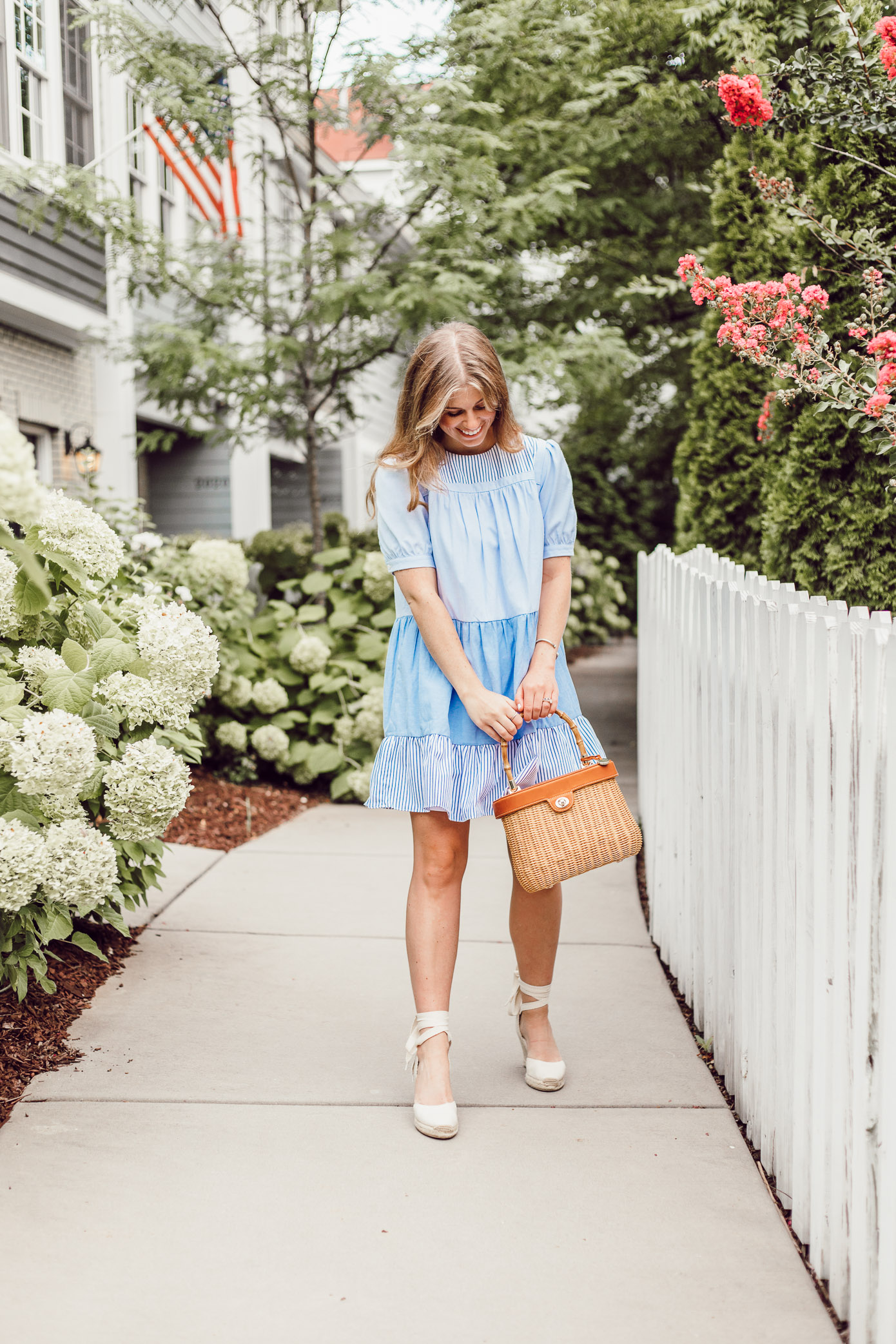 The blue and white English Factory Summer dress every girl needs in her closet this summer // Louella Reese