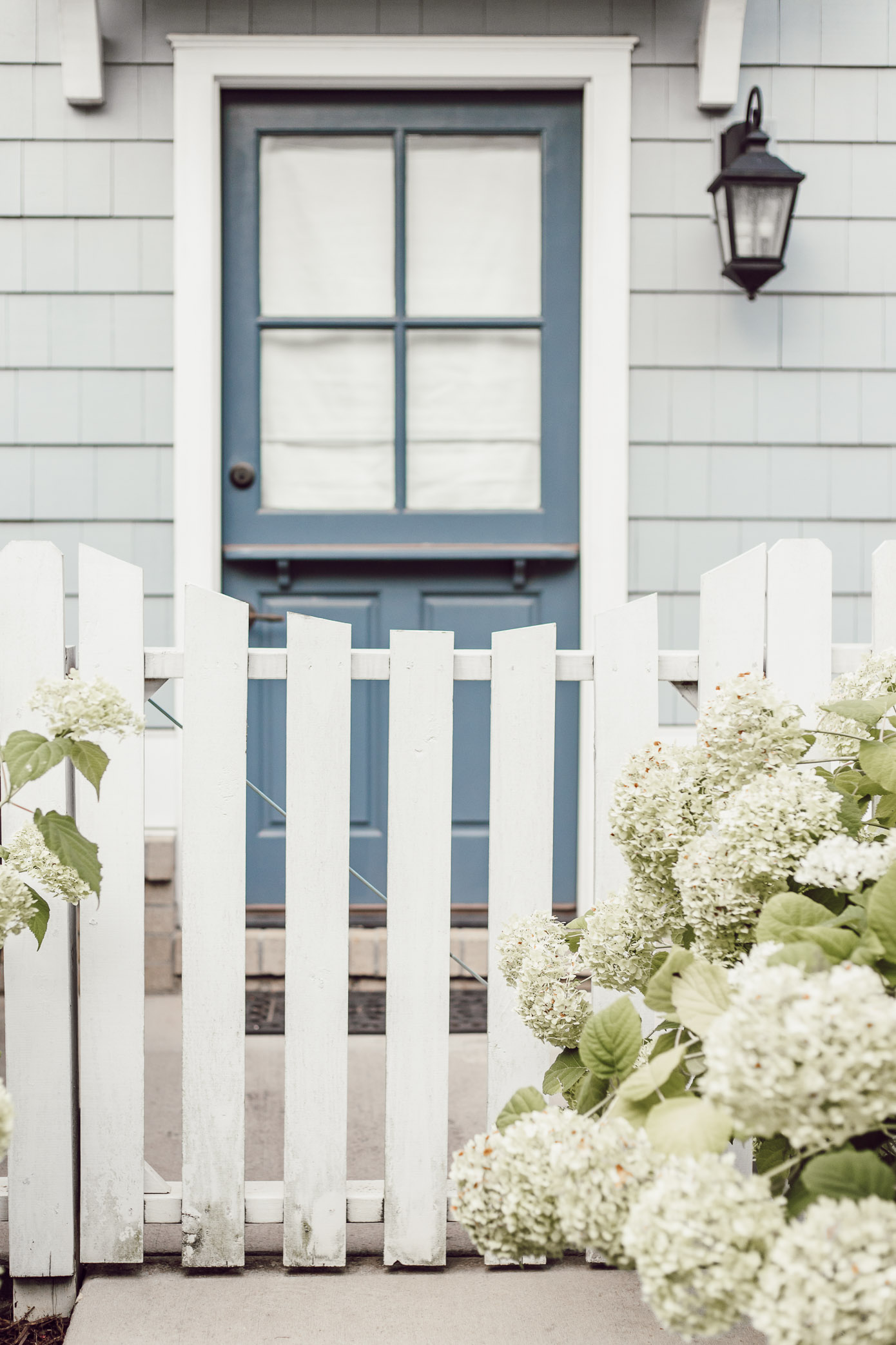 Blue Dutch Front Door | Charming Front Blue and White Front Porch Exterior | Louella Reese