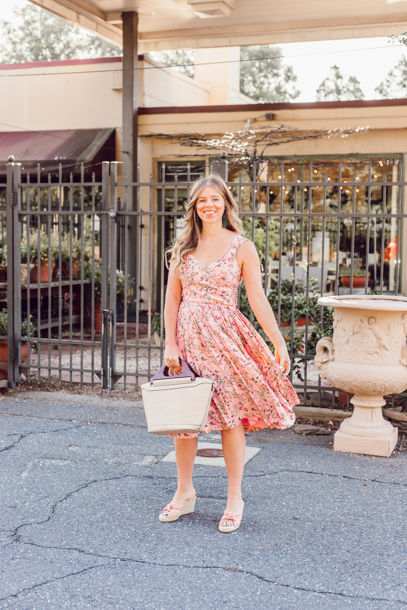 Pink Floral Sundress for Every Occasion styled on Louella Reese Life & Style Blog | Gal Meets Glam Collection Dress