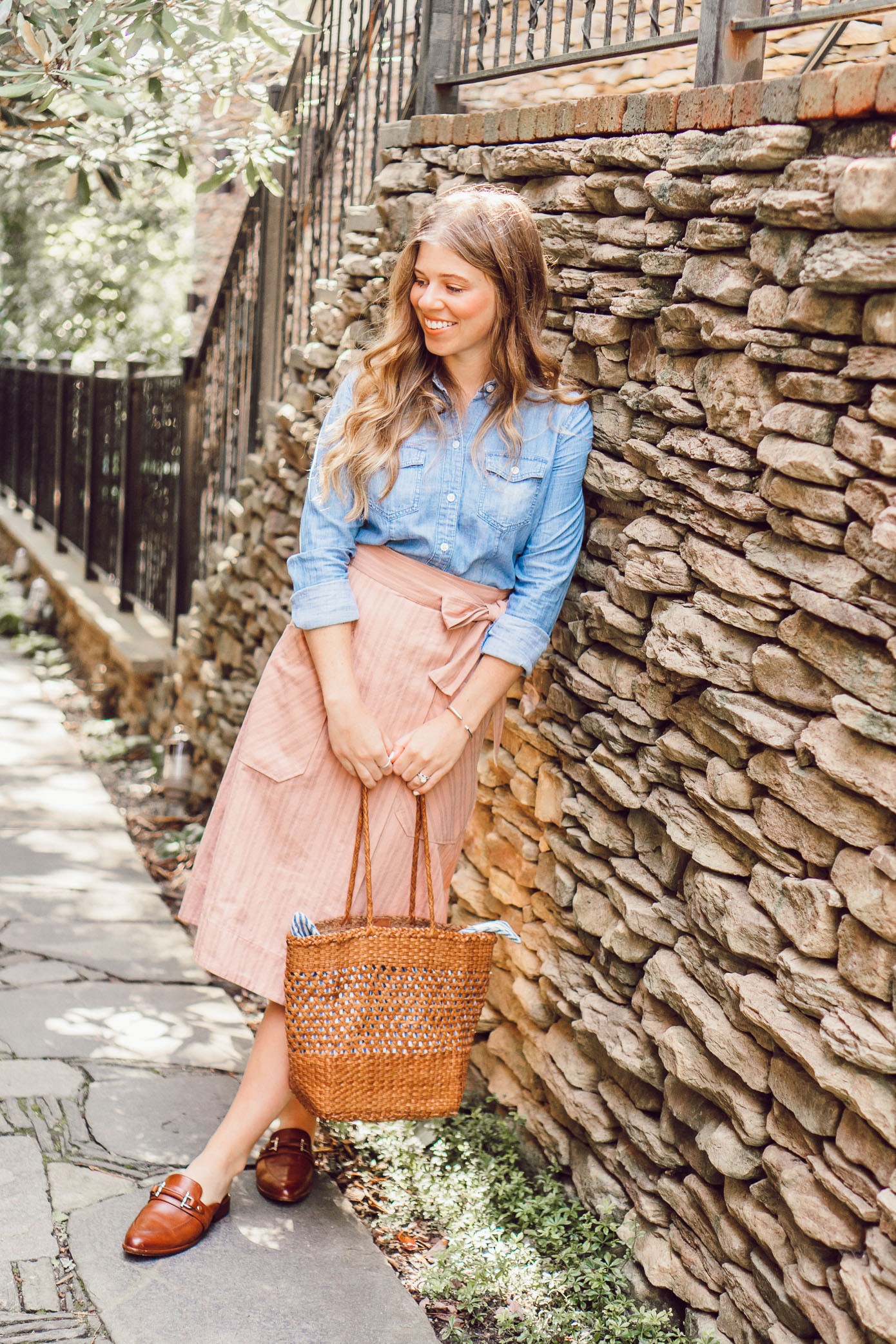 Fall Chambray Three Ways | How to Style a Chambray Shirt Three Ways for the Fall Season featured on Louella Reese