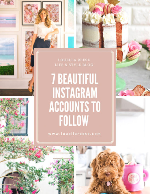 Beautiful Instagram Accounts to Follow featured on Louella Reese