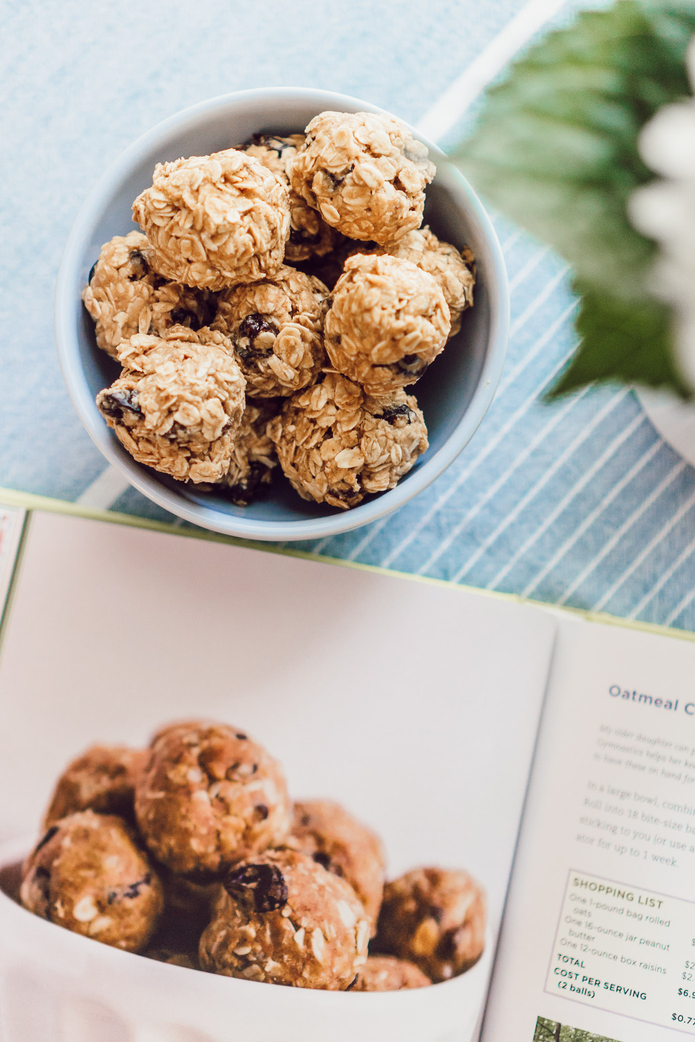 Easy, Healthy Afternoon Snack | Oatmeal Raisin Energy Bites, A Healthy Cookbook You Need In Your Kitchen featured on Louella Reese