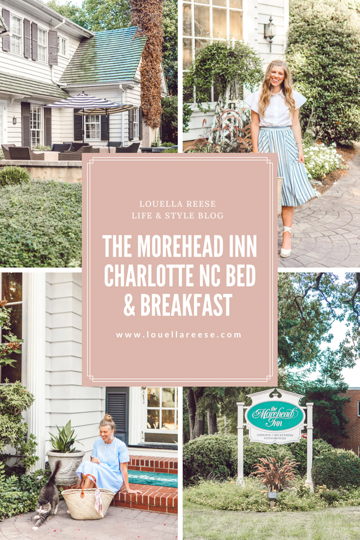 Where to Stay in Charlotte NC | The Morehead Inn Charlotte North Carolina Bed & Breakfast featured on Louella Reese