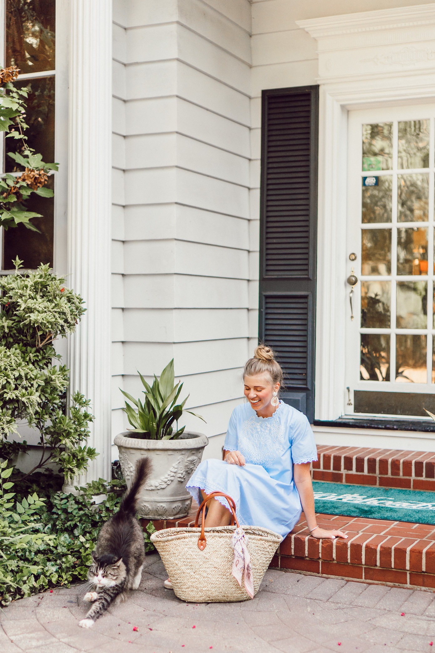 Blue Swing Dress | The Morehead Inn Charlotte NC Bed & Breakfast featured on Louella Reese Life & Style Blog