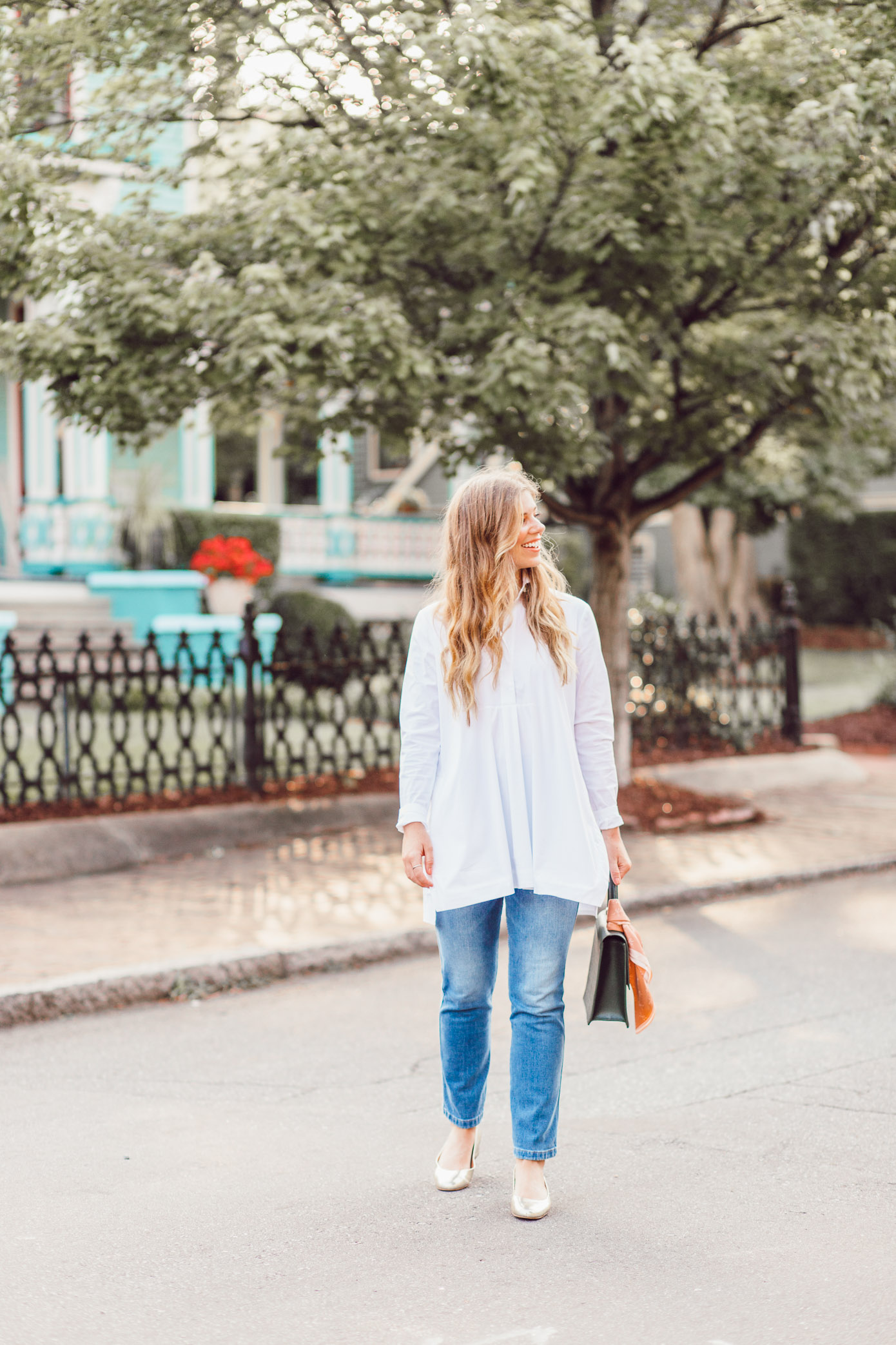 Fall Wardrobe Classics | White Shirt Tunic featured on Louella Reese