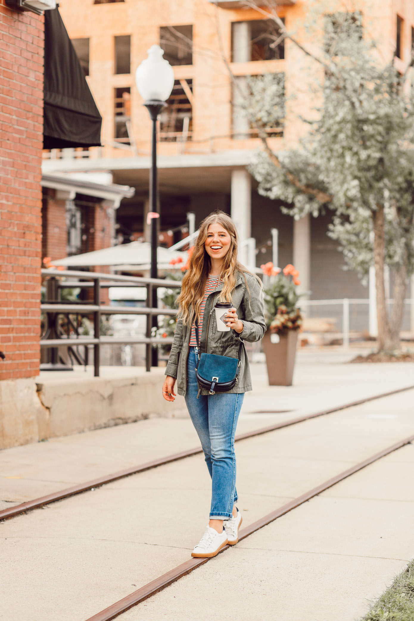 Most Instagrammable Charlotte Coffee Shops featured on Louella Reese | Casual Fall Weekend Outfit Idea