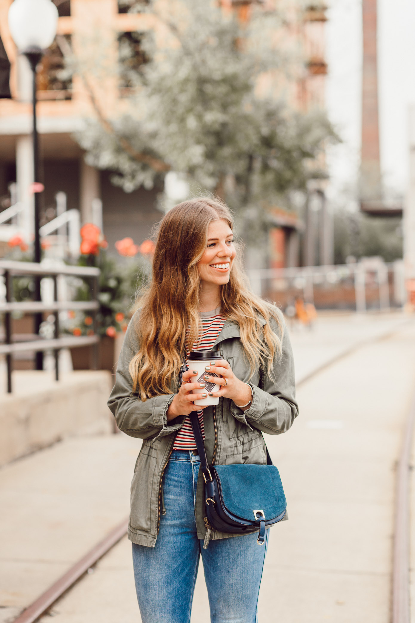 Best Coffee Shops in Charlotte NC featured on Louella Reese | Casual Fall Outfit Inspo