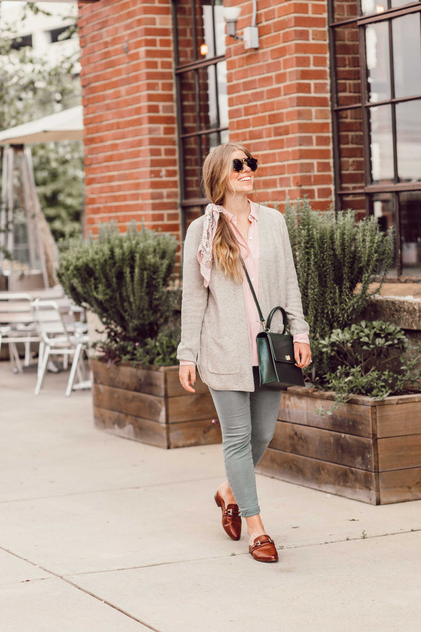 Feminine Fall Color Combo to Try featured on Louella Reese | How to Style Blush and Olive for Fall