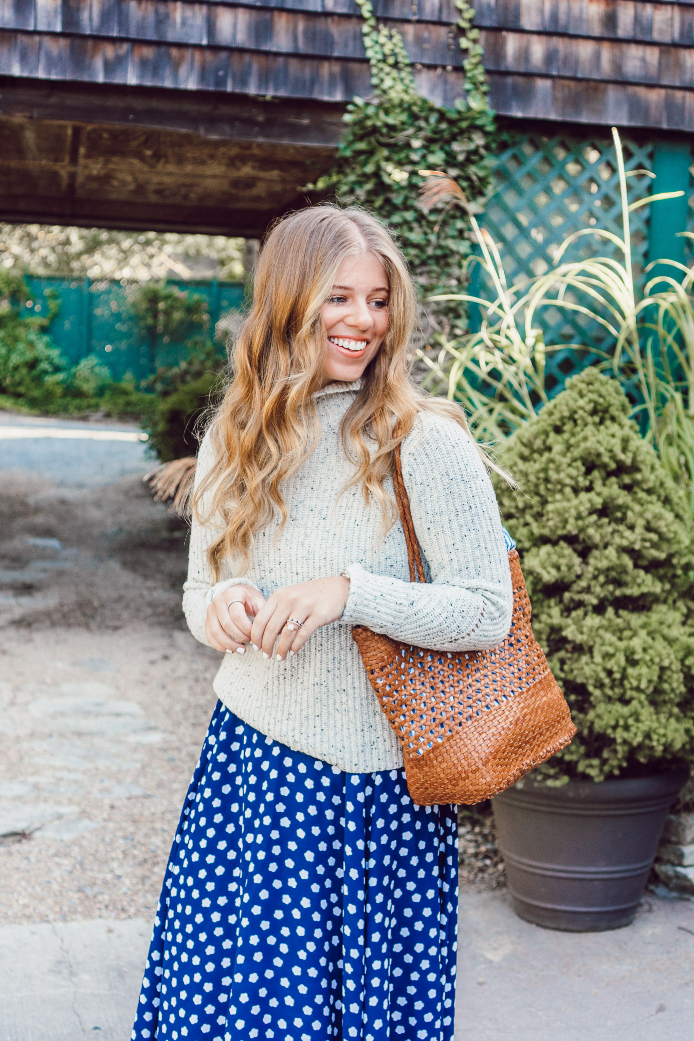 Fall Polka Dots | Cozy Sweaters for Fall featured on Louella Reese