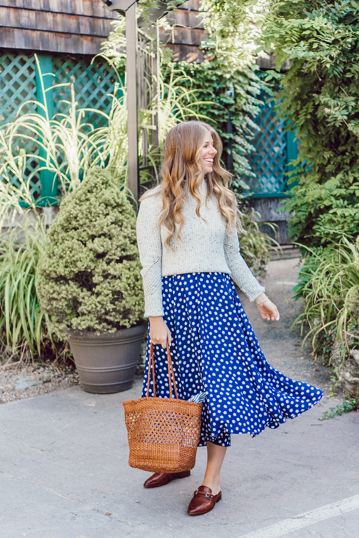 Fall Polka Dots | Preppy Fall Style featured on Louella Reese