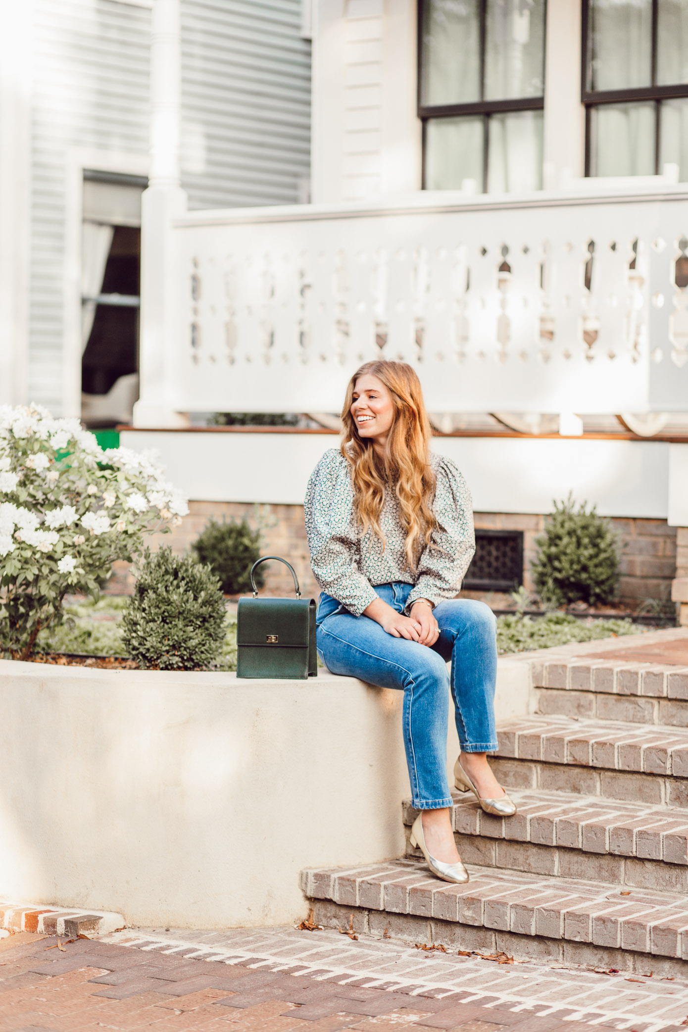 Frame Le Slender Straight Leg Jeans - Fall Statement Sleeves featured by popular Charlotte style blogger, Laura Leigh of Louella Reese
