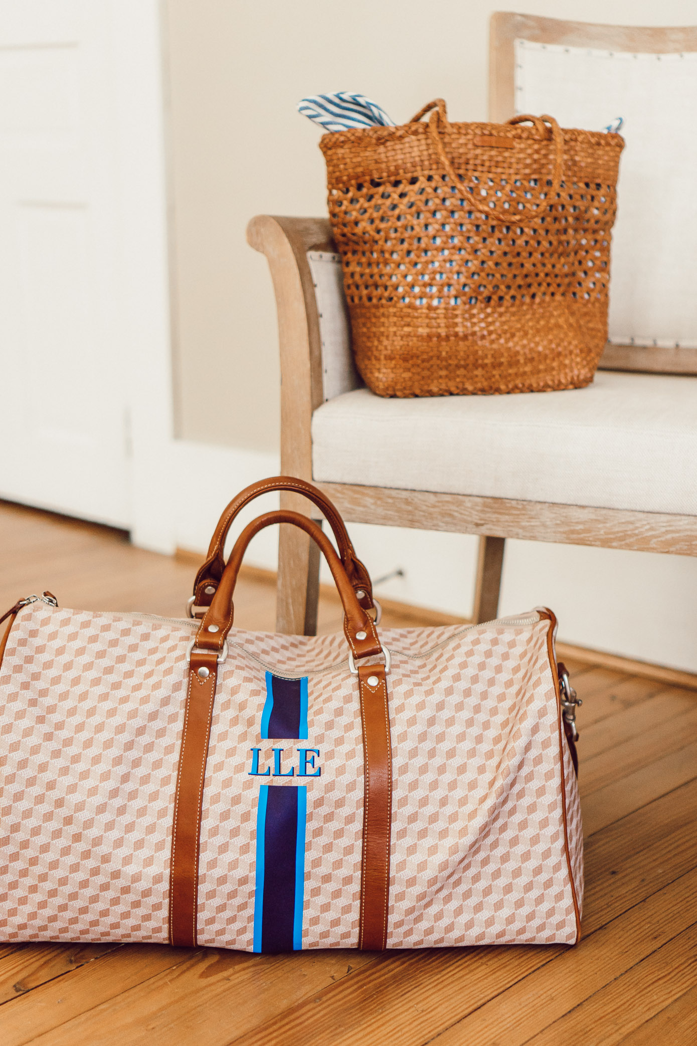 Loeffler Randall Maya Woven Leather Shopper Tote and Barrington The Belmont Cabin Bag | Where to Stay in Blowing Rock NC: The New Public House featured by popular North Carolina travel blogger Laura Leigh of Louella Reese