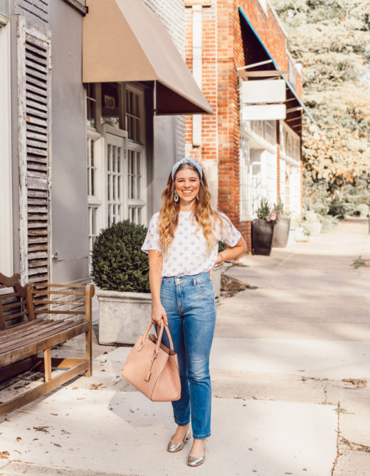 J.Crew Floral Tee Shirt for Fall | Fashion Faux Pas or Time Tested Trend featured on Louella Reese