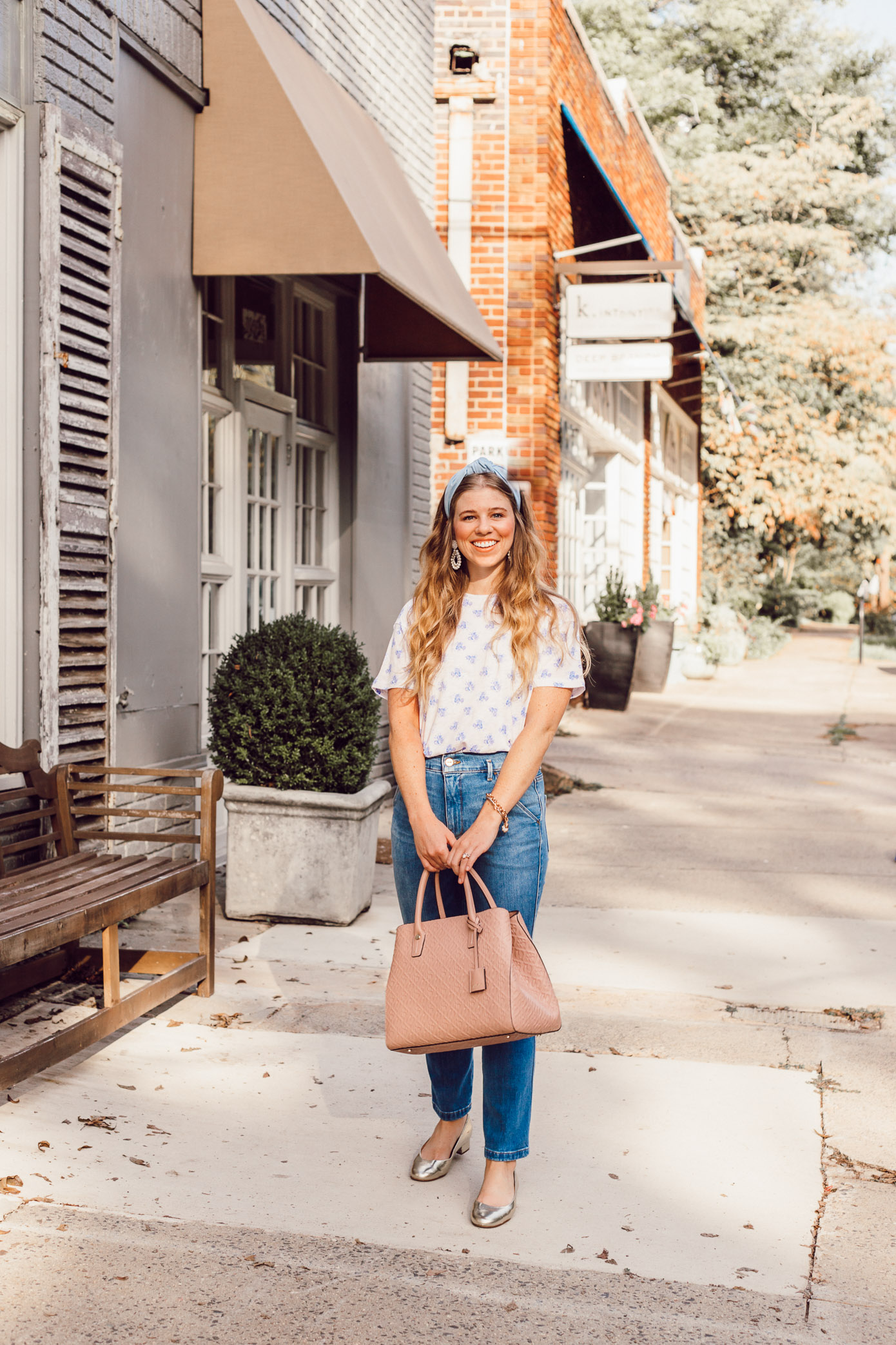J.Crew Floral Tee Shirt for Fall | Fashion Faux Pas or Time Tested Trend featured on Louella Reese Blog