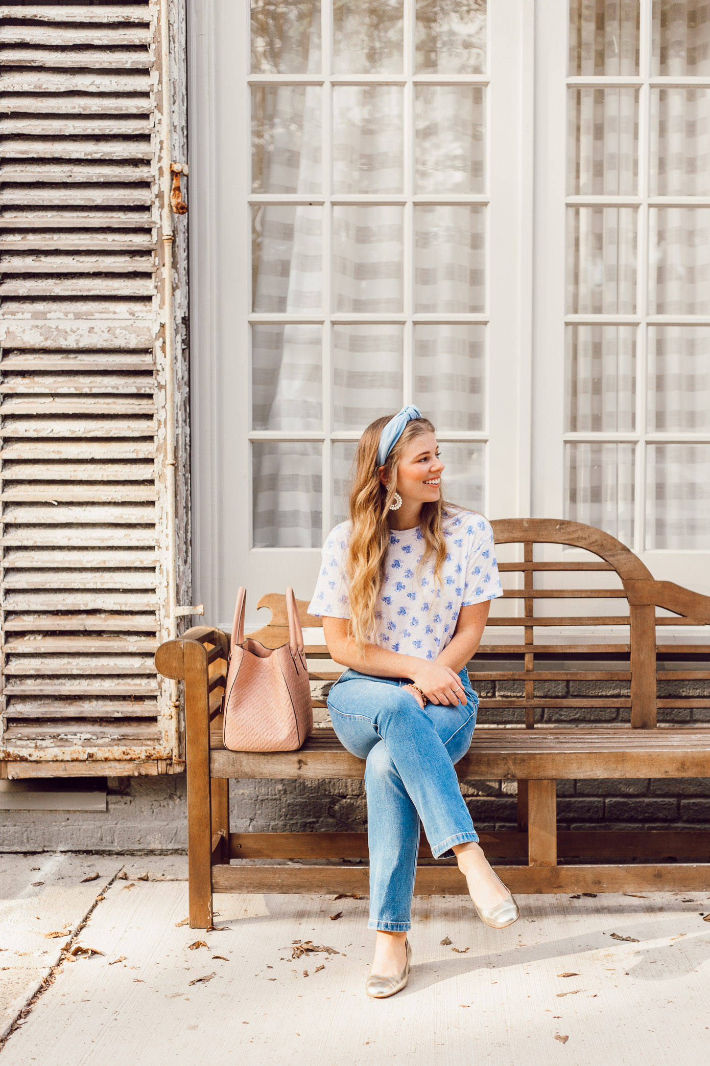 Feminine Casual Fall Style | J.Crew Floral Tee Shirt for Fall | Fashion Faux Pas or Time Tested Trend featured on Louella Reese