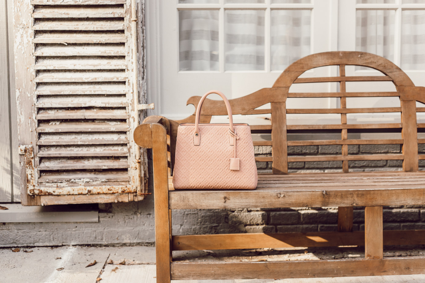 Blush Pink Tote for Fall featured on Louella Reese