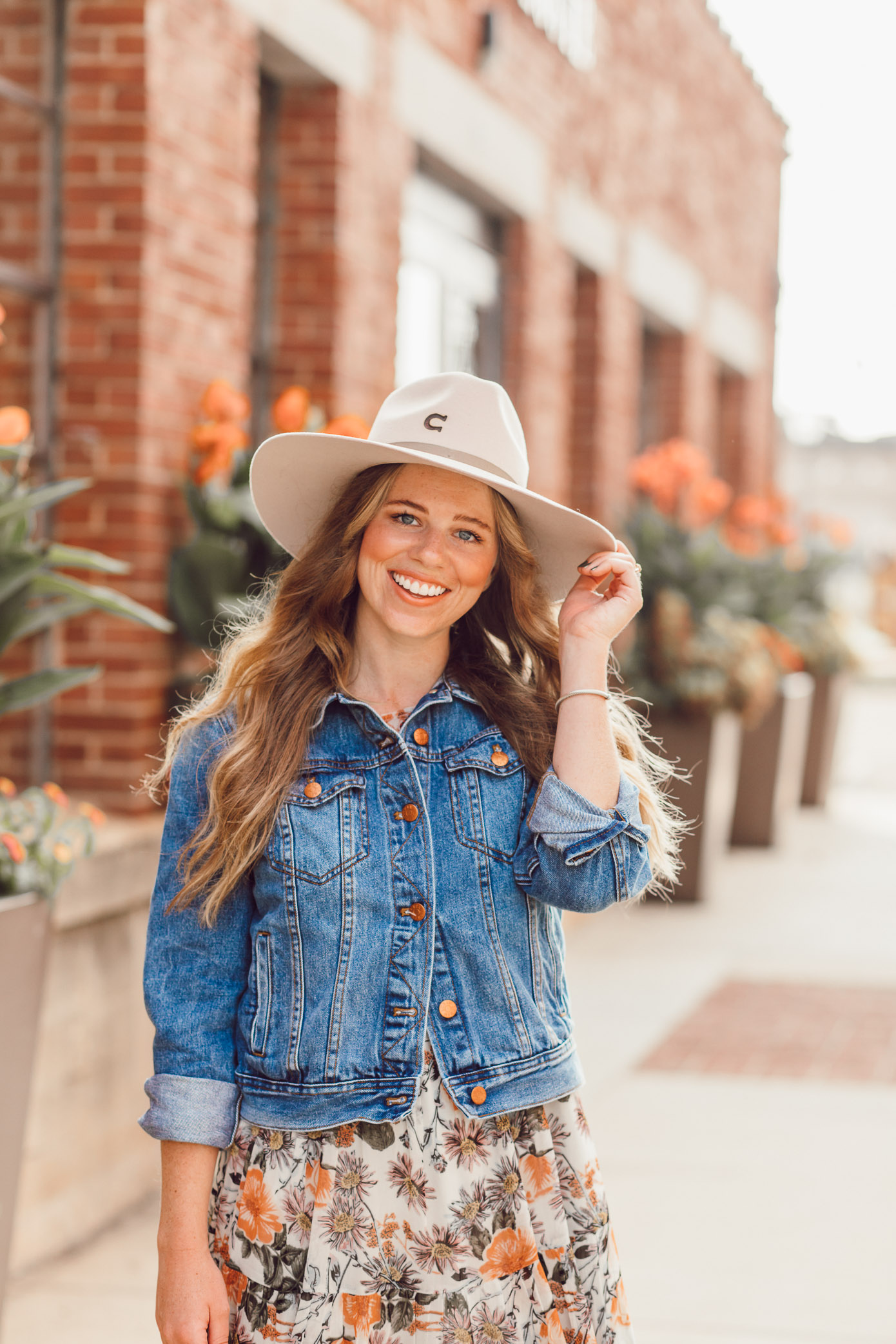 Fall Floral Midi Dress, Felt Cowboy Hat for Fall | How to Style the Western Trend for Fall 2018 featured on Louella Reese