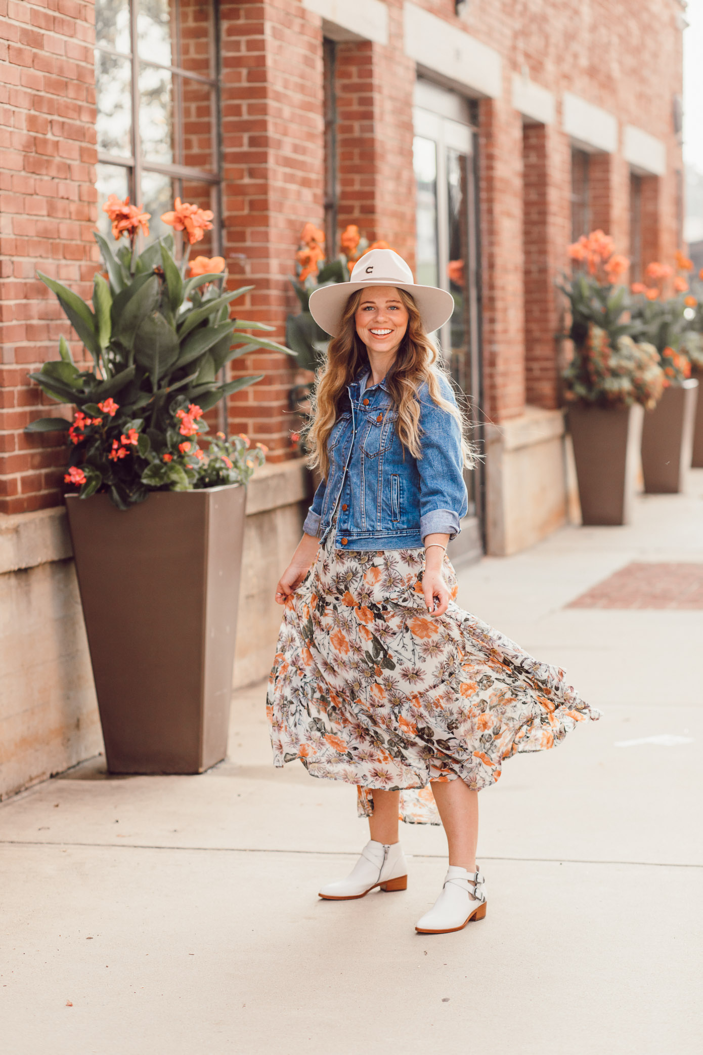 Fall Floral Midi Dress, Frye Ray Western Shootie Ankle Bootie | How to Style the Western Trend for Fall 2018 featured on Louella Reese
