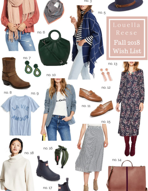 Louella Reese Fall 2018 Wish List | Fall Wardrobe Must Haves featured on Louella Reese