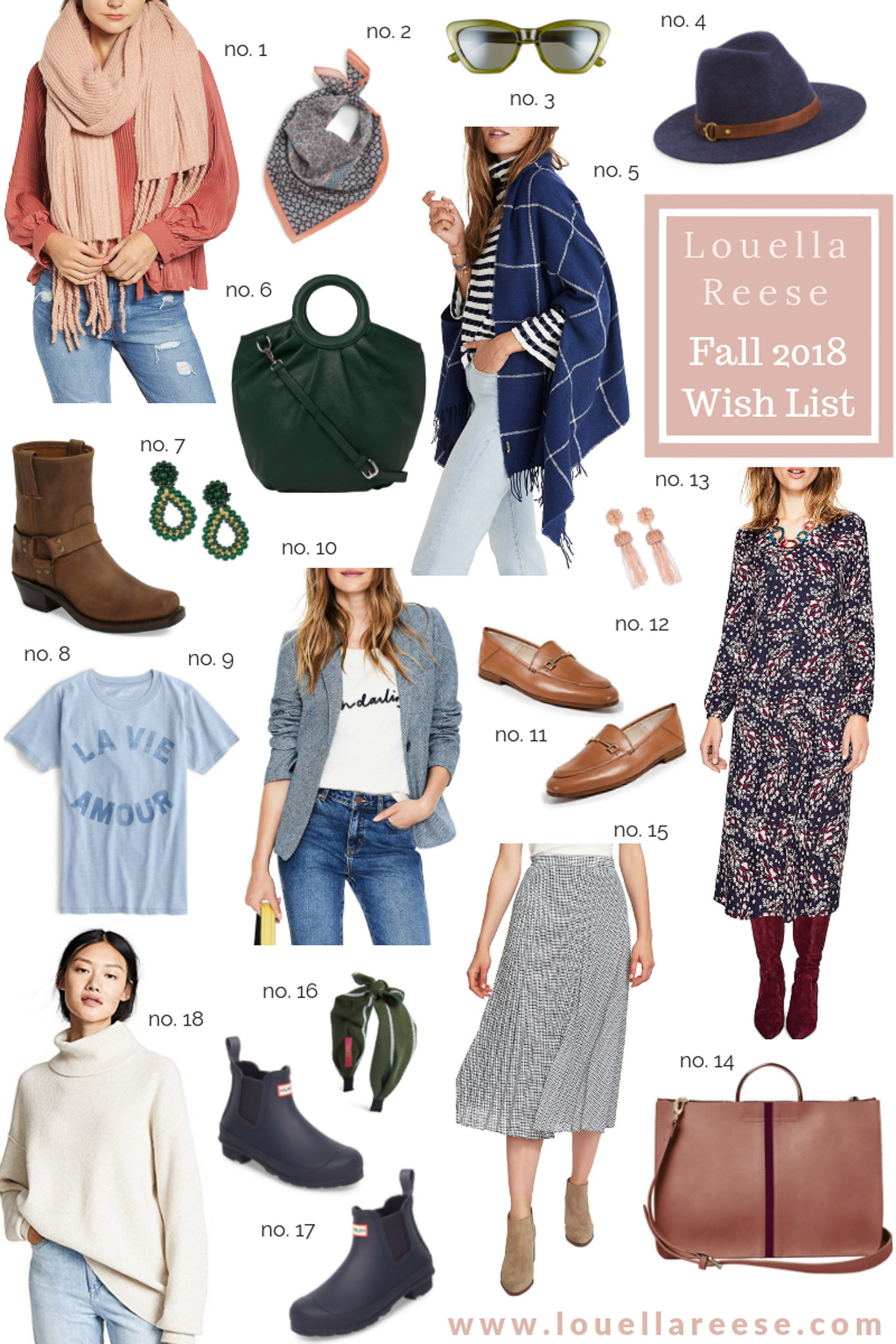 Louella Reese Fall 2018 Wardrobe Wish List | Fall Wardrobe Must Haves featured on Louella Reese
