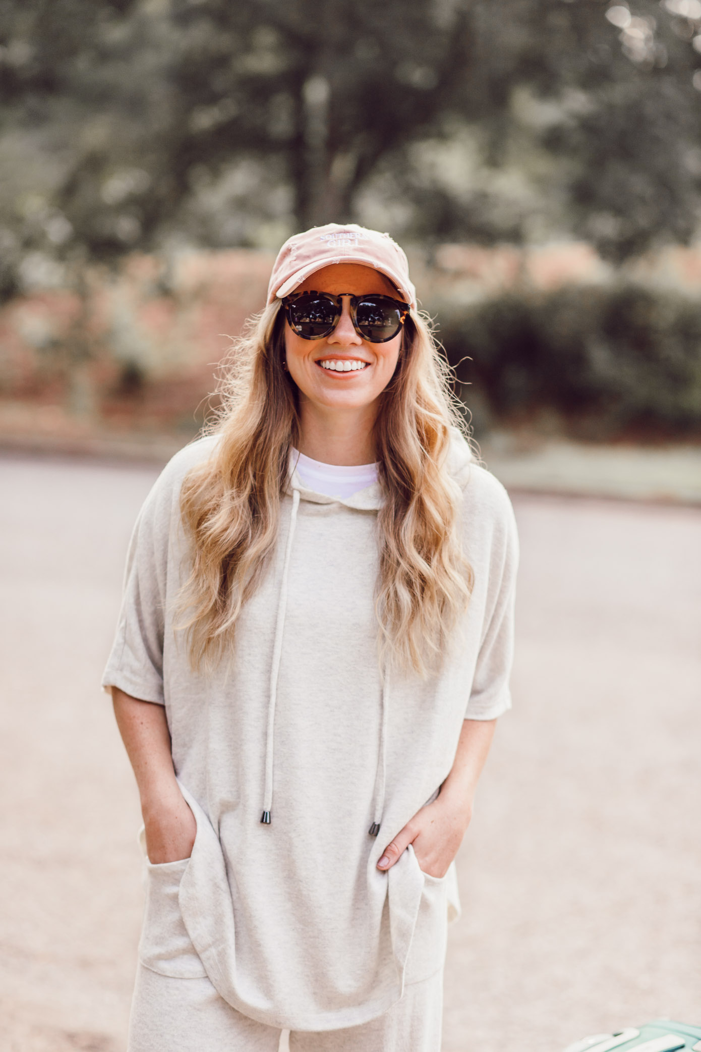 Southern Girl Baseball Hat | Cozy Fall Travel Style featured on Louella Reese