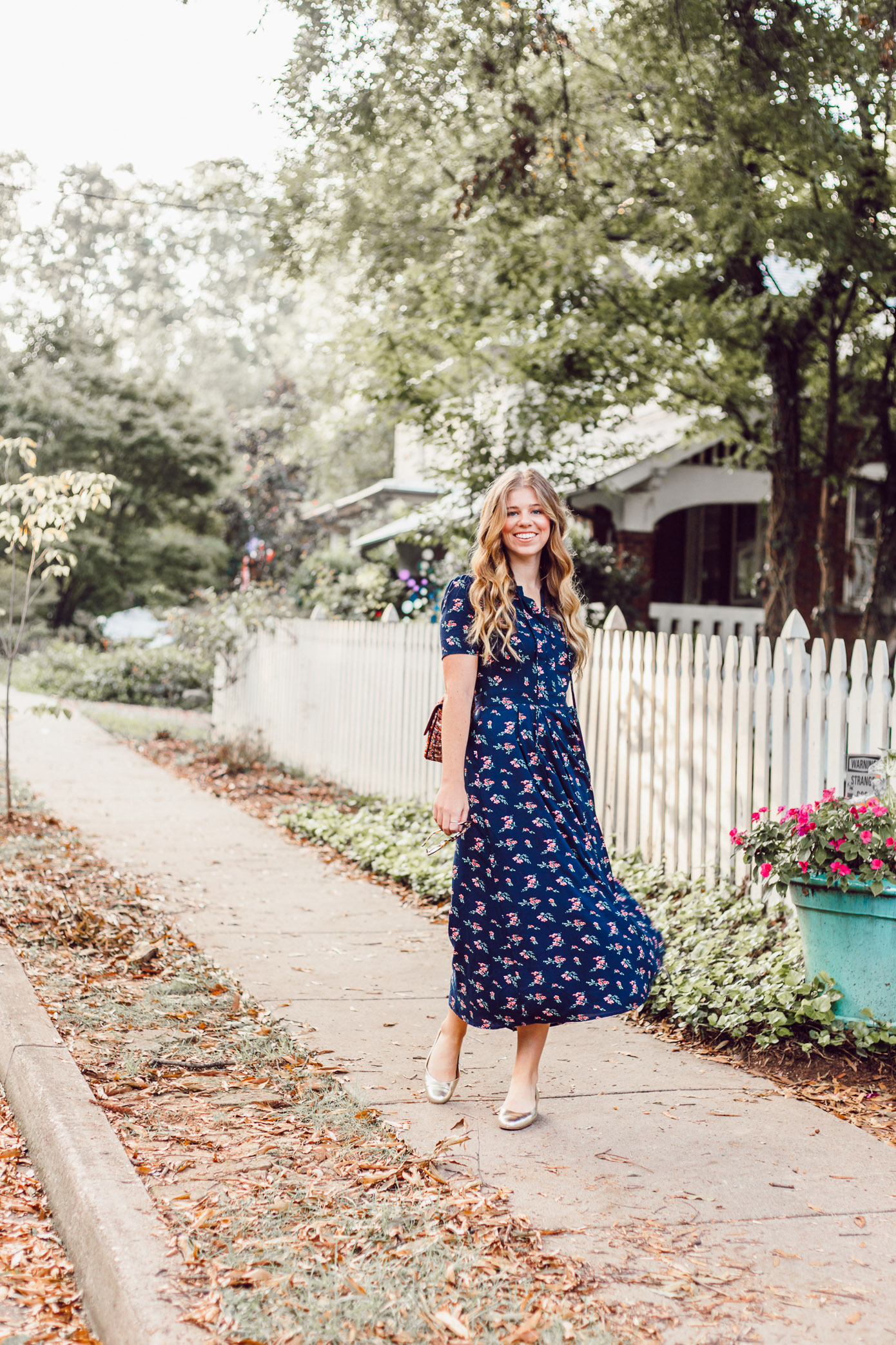 Savoring Fall and the Perfect Fall Midi Dress to Wear While Doing So featured on Louella Reese Life & Style Blog