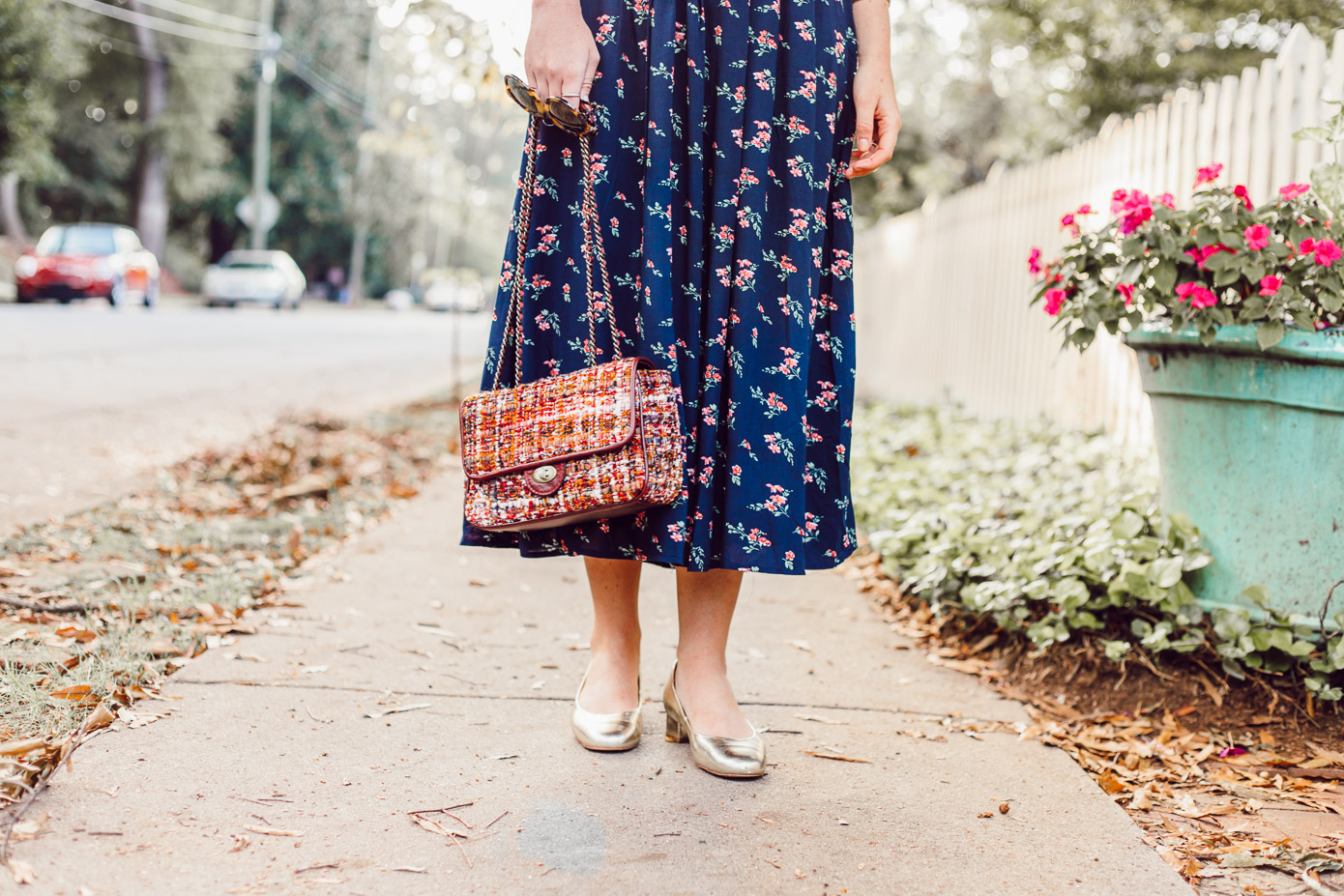 Floral Midi Dress for Fall | Fall Midi Dresses featured on Louella Reese