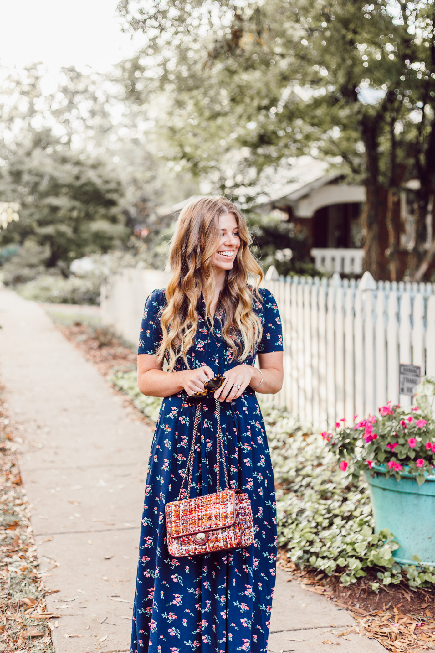 Savoring Fall | Floral Midi Dress for Fall | Fall Midi Dresses featured on Louella Reese Life & Style Blog