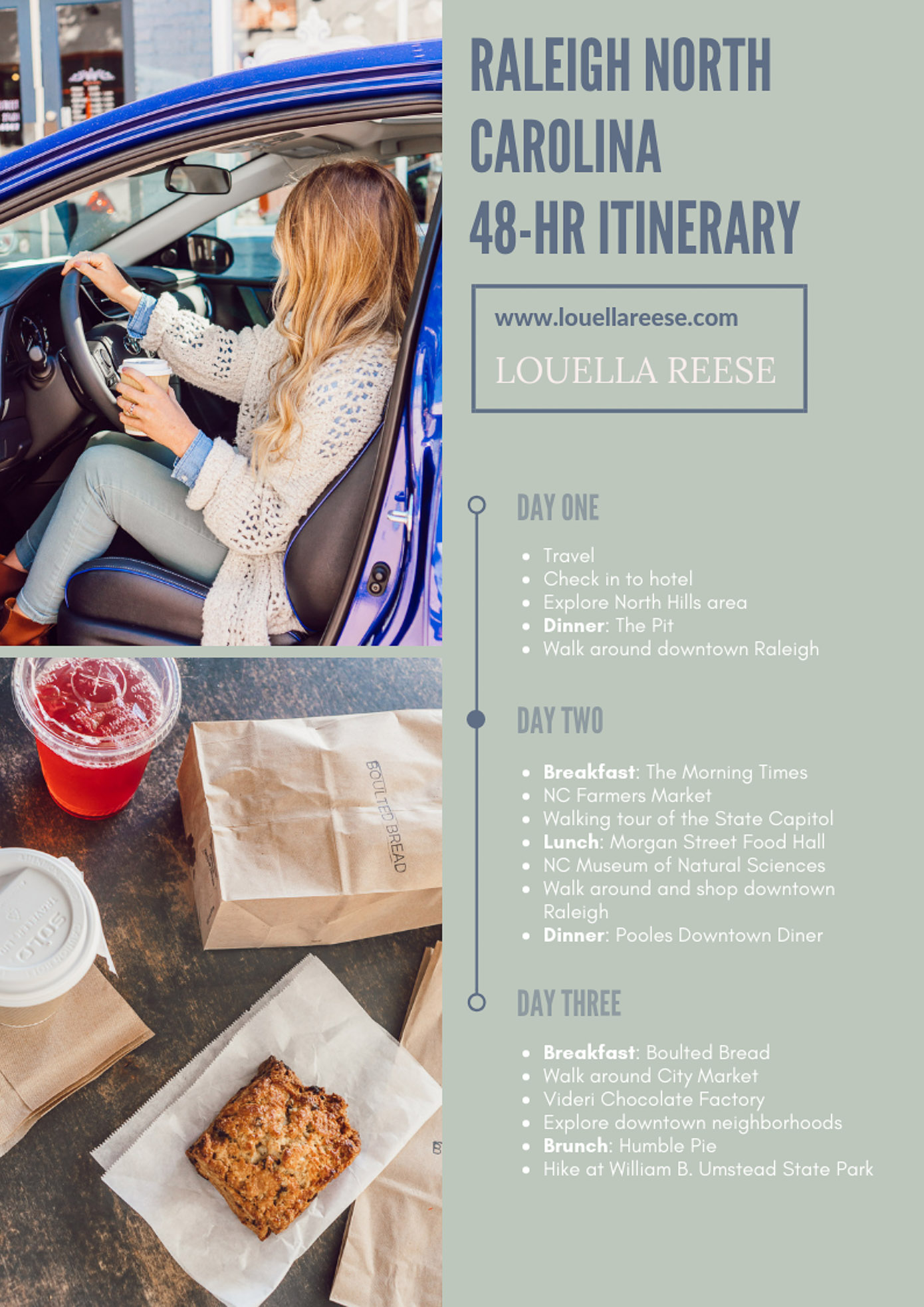 48 Hour Raleigh NC Itinerary | Raleigh NC Travel Guide featured on Louella Reese