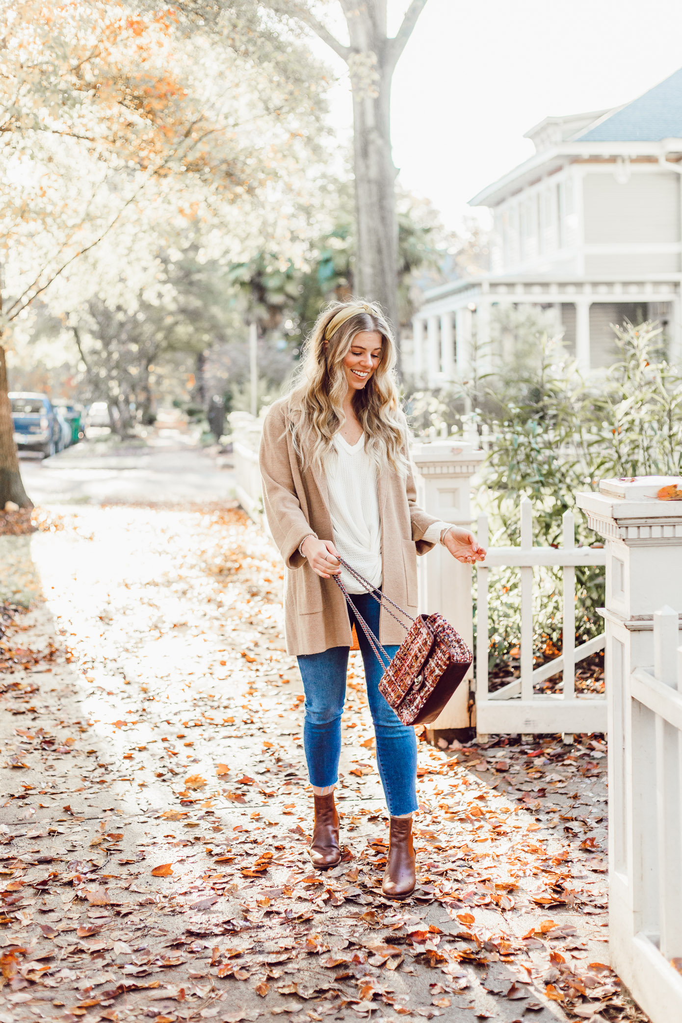 Casual Thanksgiving Outfit Inspiration | Casual Sweater Blazer featured on Louella Reese