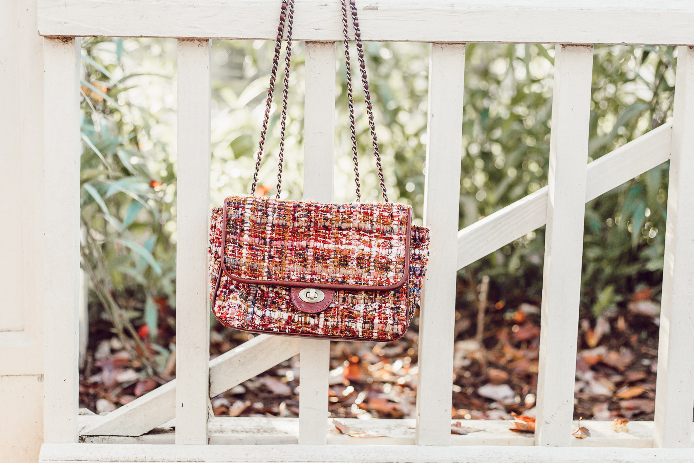 Casual Thanksgiving Outfit Idea | Fall Boucle Handbag featured on Louella Reese