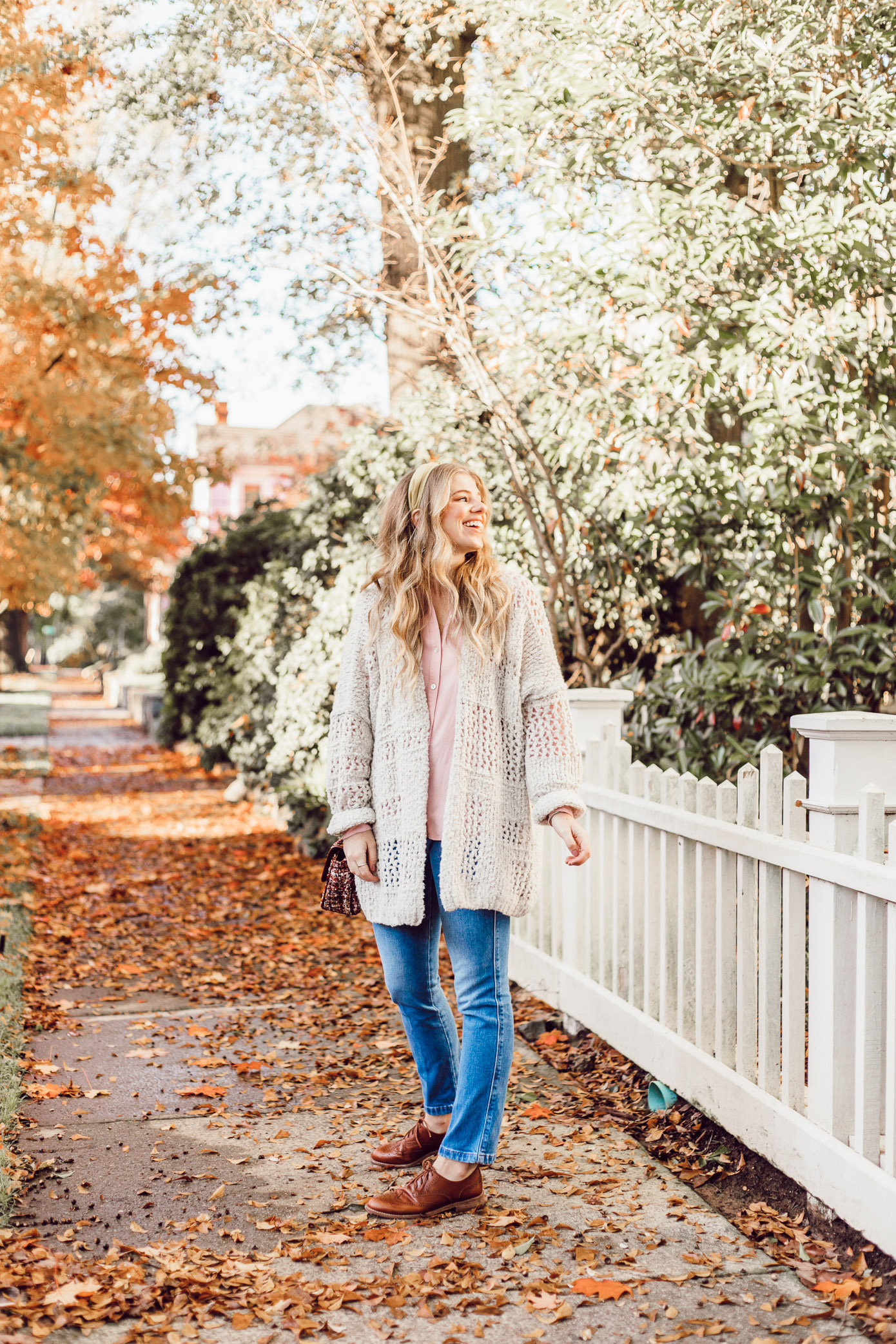 No Fail Thanksgiving Outfit, Casual Fall Outfit | Free People Saturday Morning Cardigan featured on Louella Reese Life & Style Blog