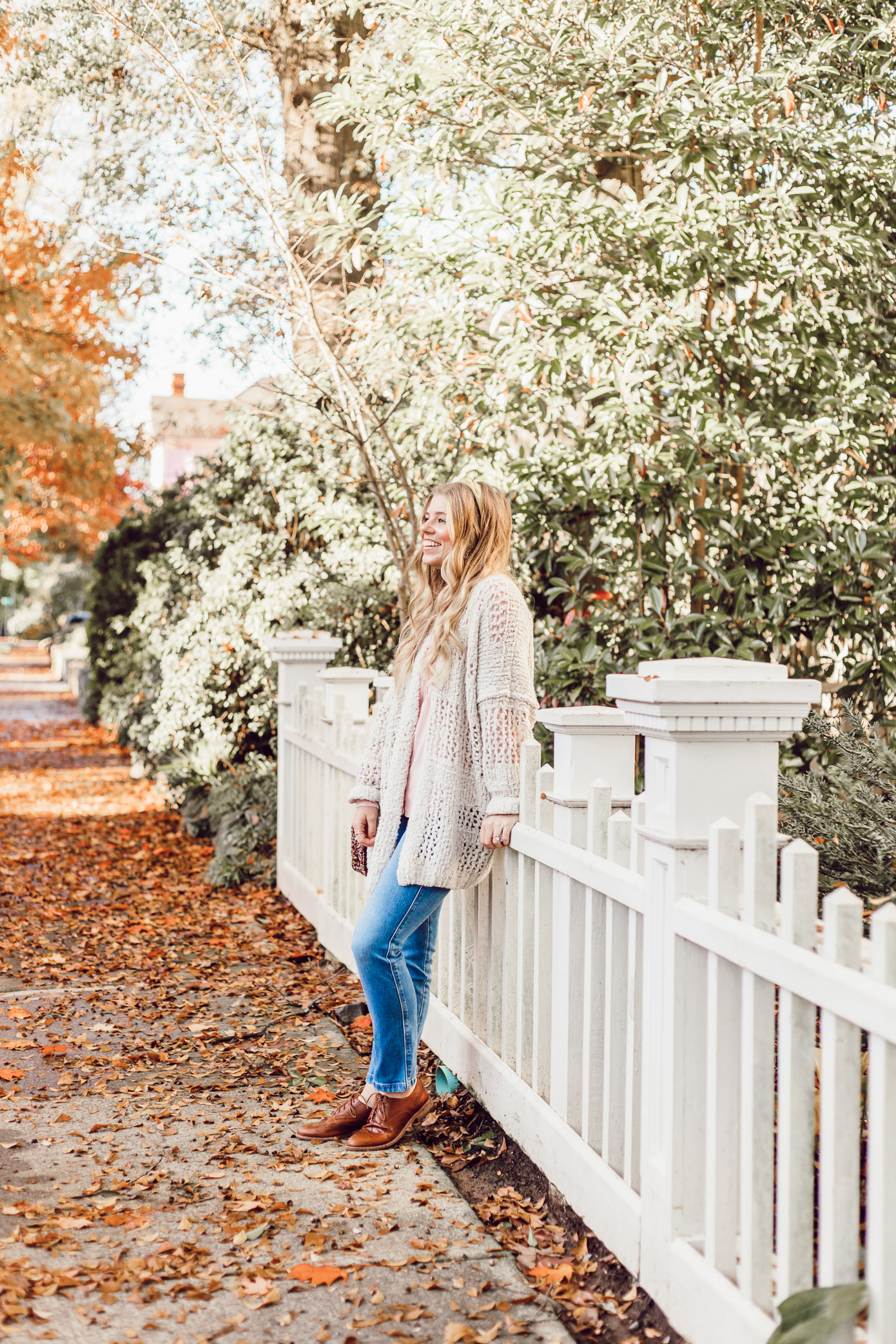 No Fail Thanksgiving Outfit, Casual Fall Outfit Inspo | Free People Saturday Morning Cardigan featured on Louella Reese
