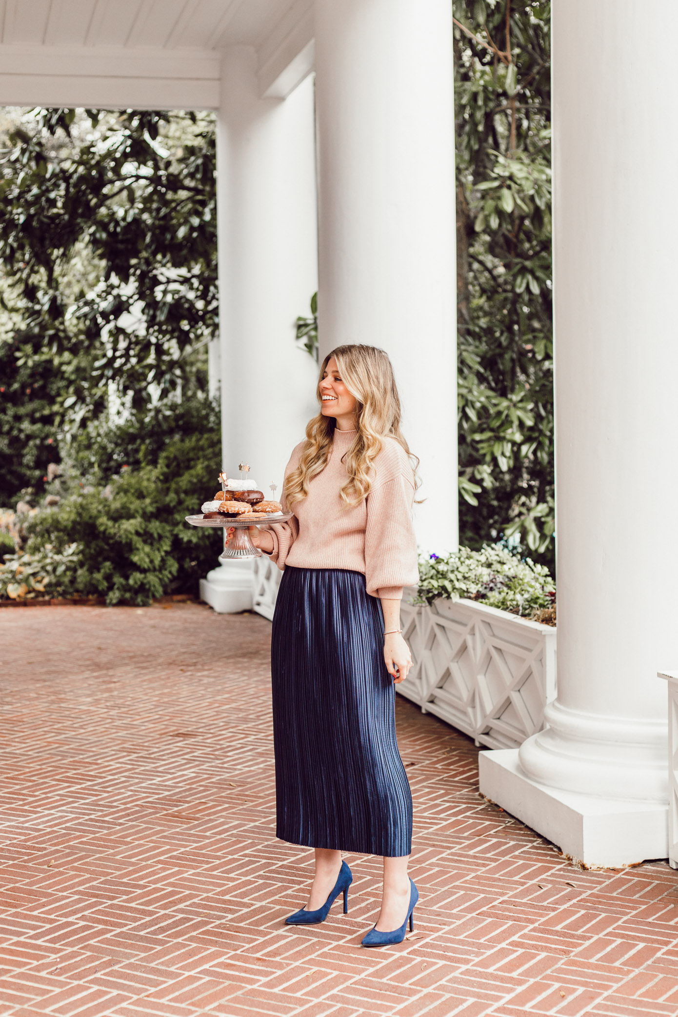 29 Life Lessons Learned featured on Louella Reese for her 29th Birthday | Tibi Plissé Midi Skirt, Line and Dot Blush Cropped Sweater
