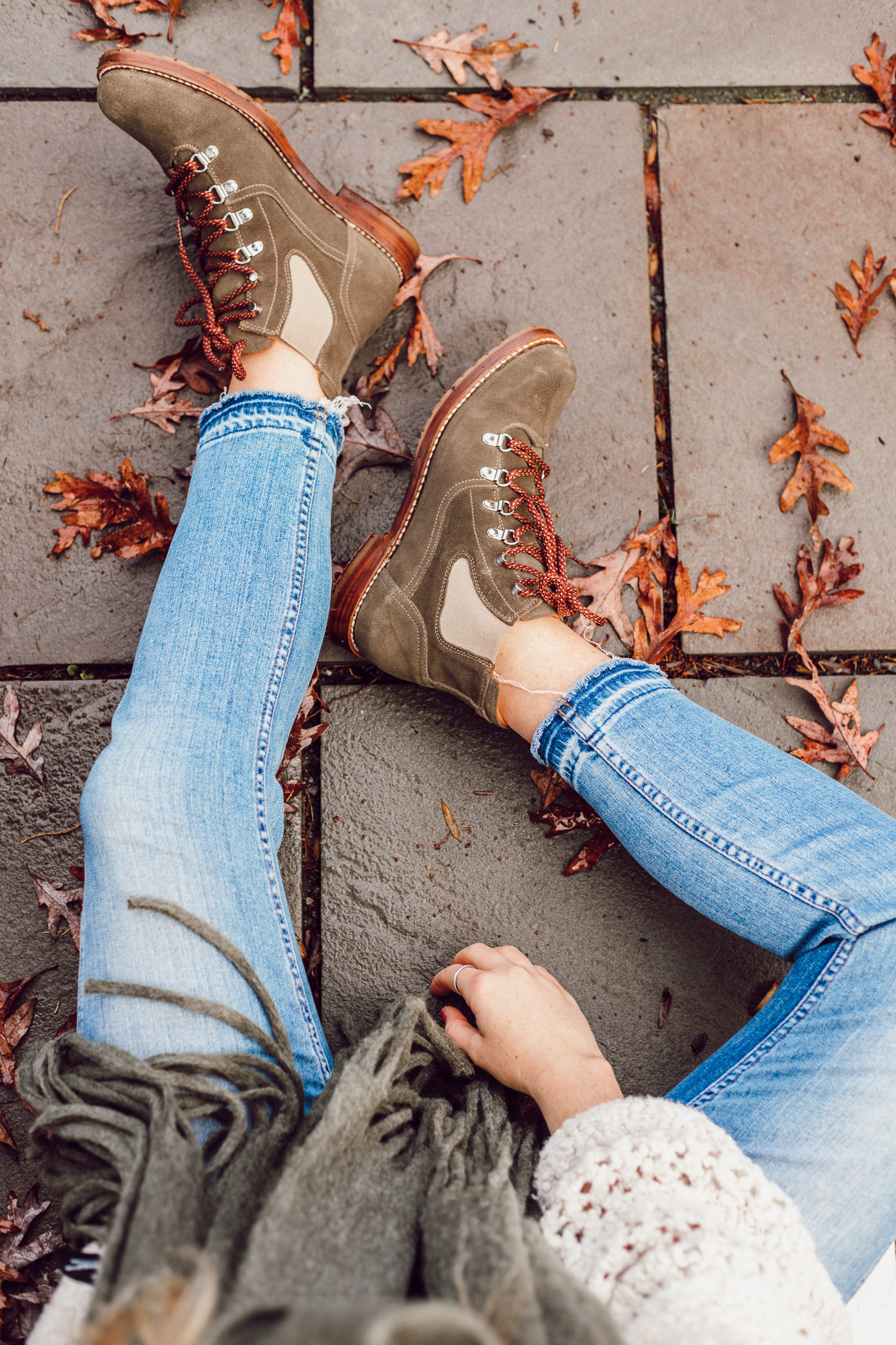 The Brand I Can Always Count On For Great Boots featured on Louella Reese Life & Style Blog | Great Boots for Winter, Olive Hiking Boots