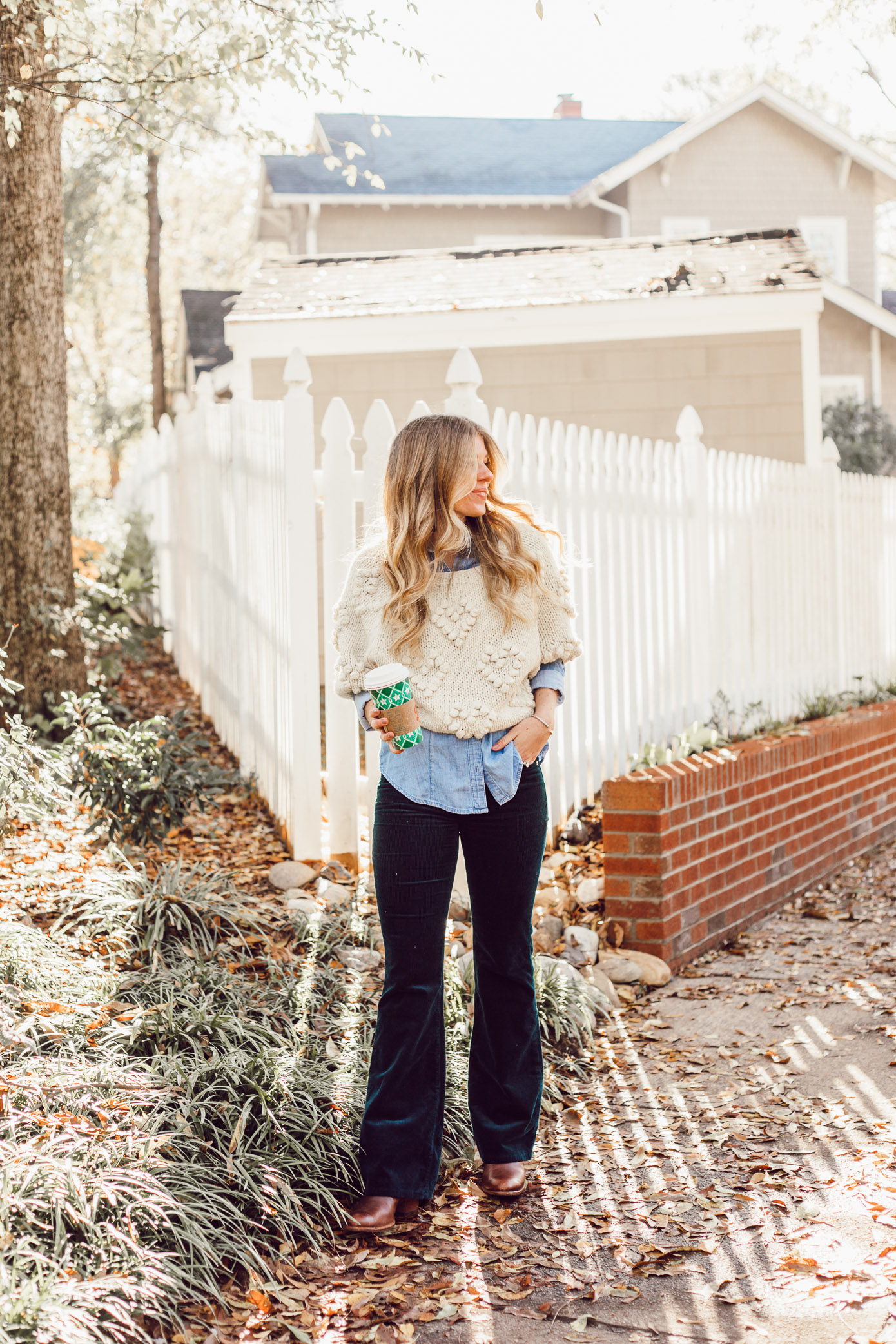 How to Style a Pommed Heart Sweater, Styling Corduroys for Winter | Must Try Winter Trend featured on Louella Reese