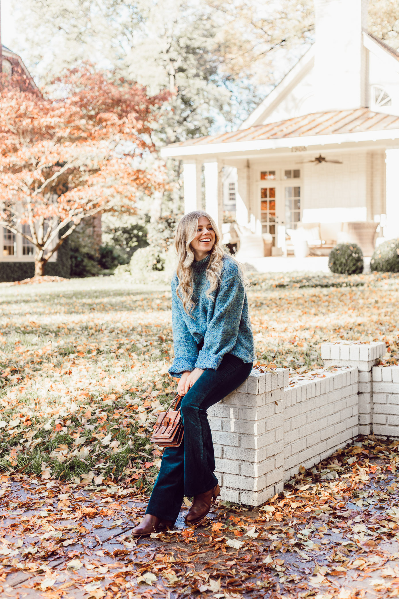 Anthropologie Sparkle Knit Turtleneck Sweater, Styling Corduroys for Winter | Must Try Winter Trend featured on Louella Reese Life & Style Blog