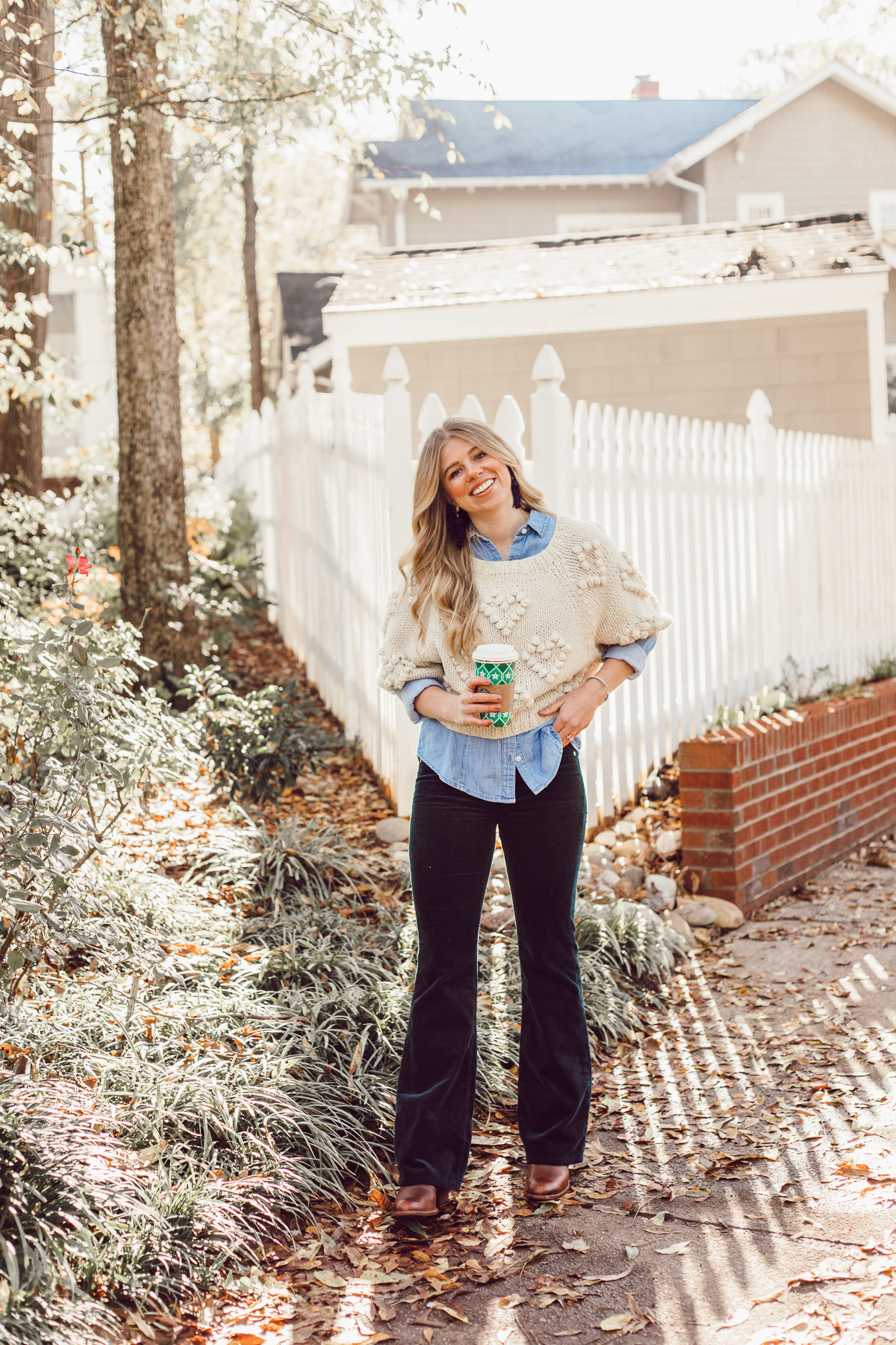 Callahan Pommed Heart Sweater, Styling Corduroys for Winter | Must Try Winter Trend featured on Louella Reese