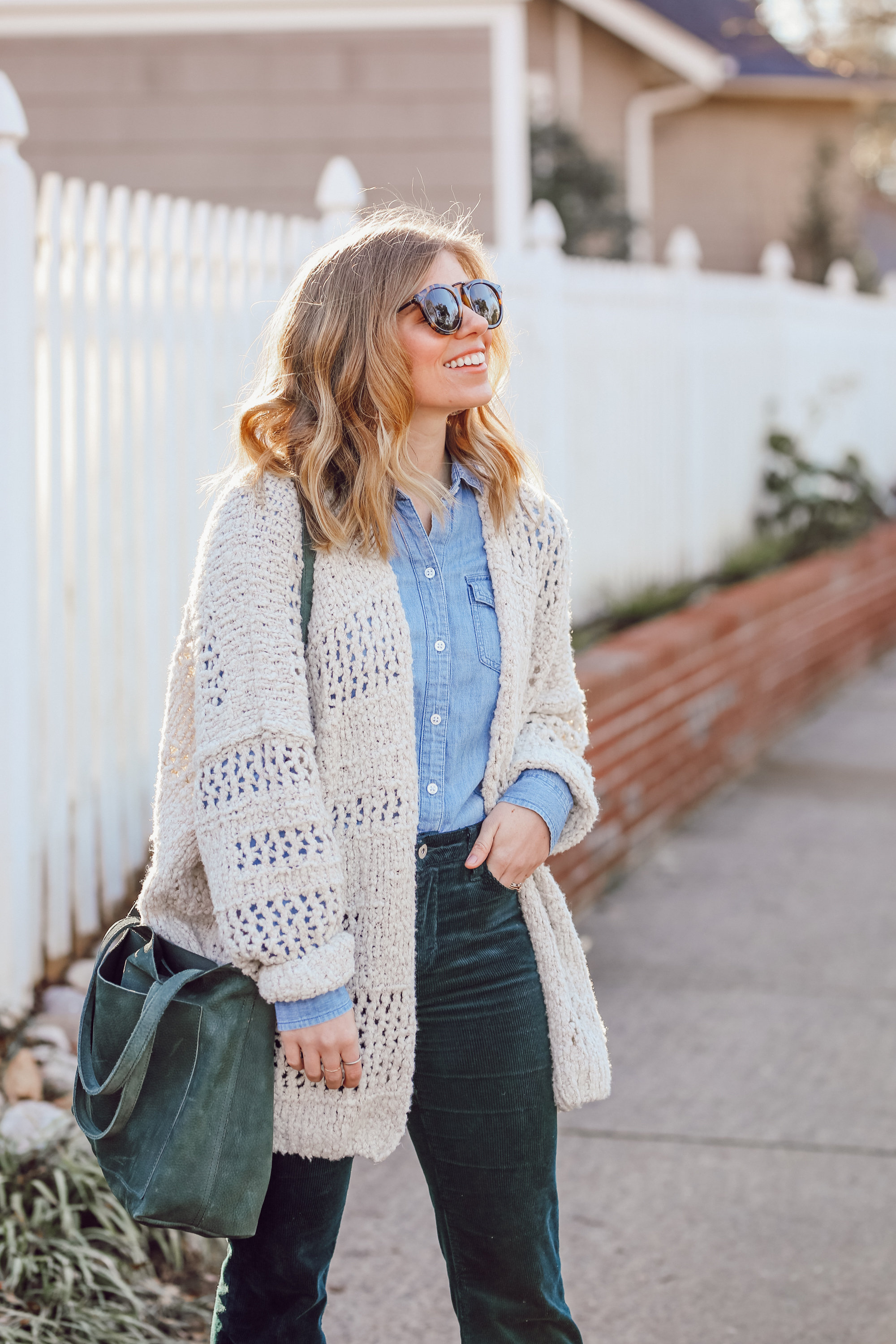 How to Pull off the 70s Trend in 2019 | Free People Saturday Morning Cardigan | Louella Reese